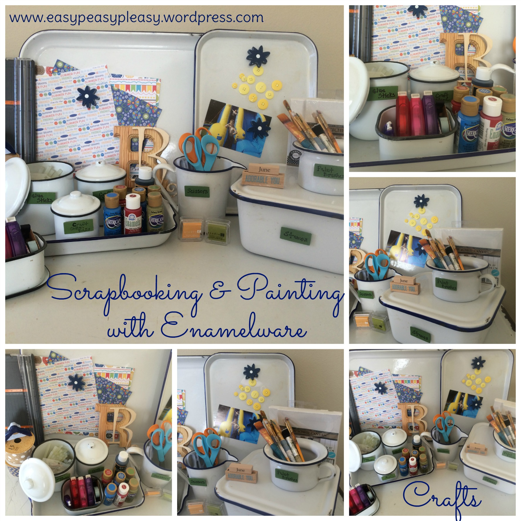 craft room paint ideas my enamelware obsession easy peasy pleasy 4033