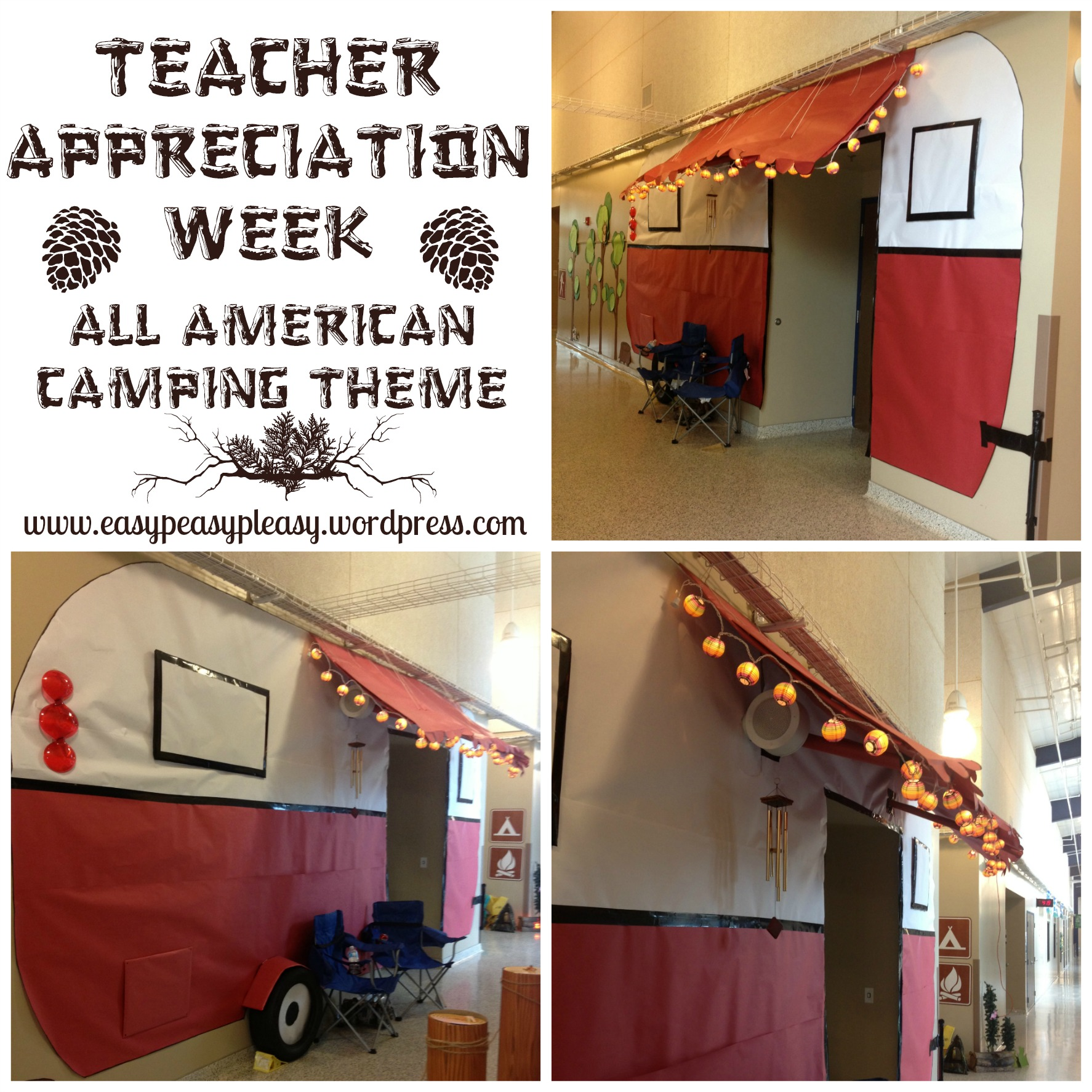 Teacher Appreciation Week All American Camping Theme ideas at https://easypeasypleasy.com