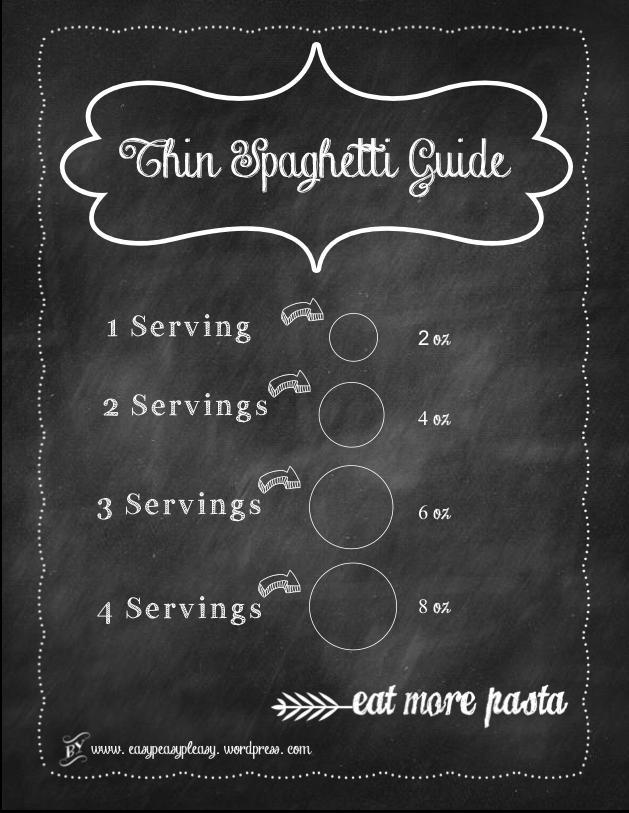 Thin Spaghetti Guide Free Chalkboard Printable