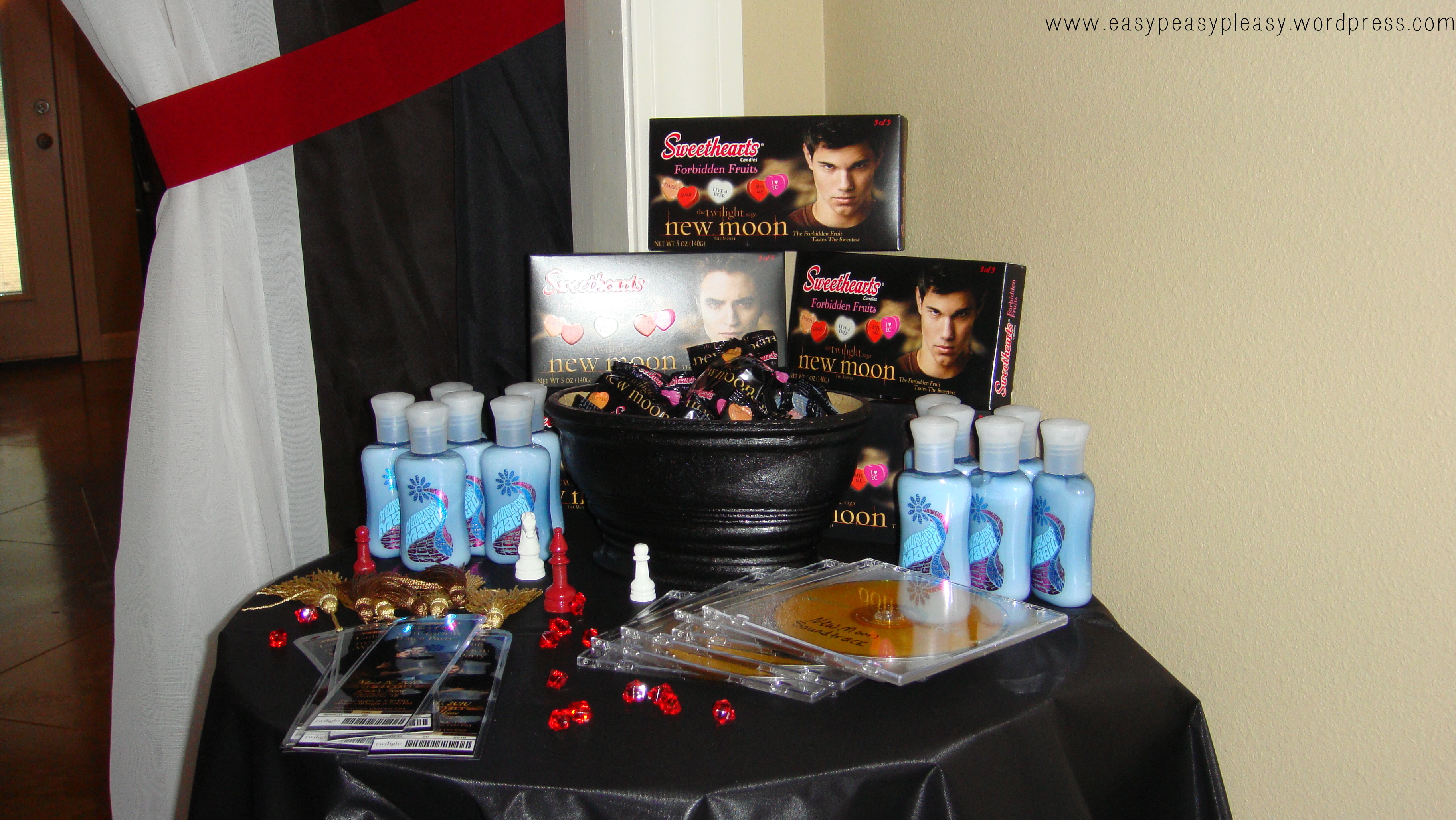 Twilight New Moon Party Favors #tbt