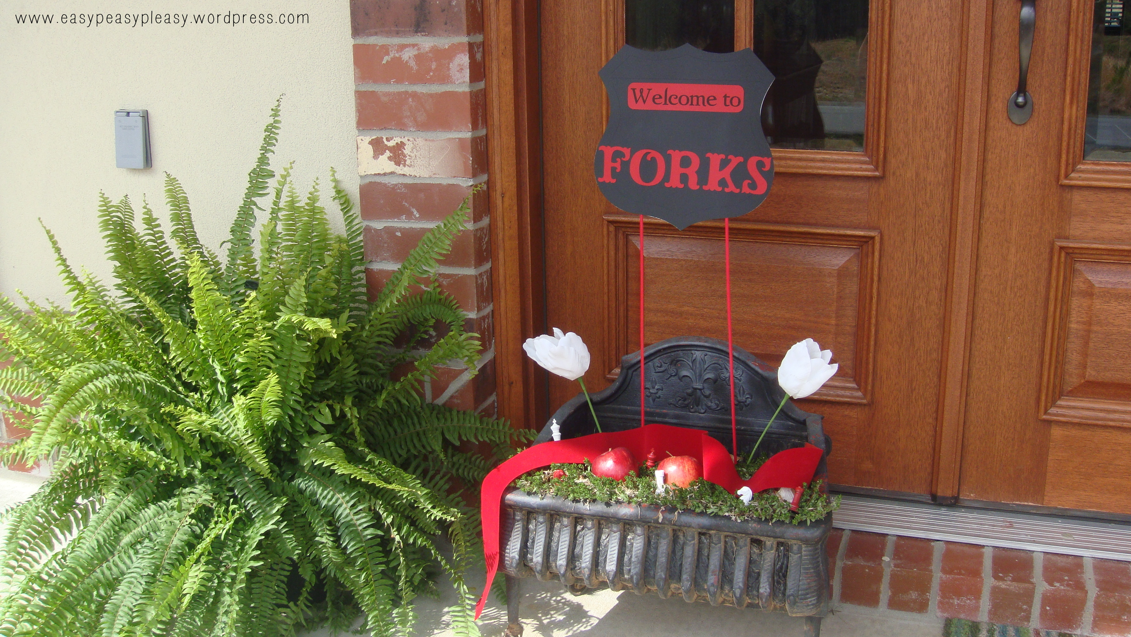 Twilight Party Welcome to Forks Sign