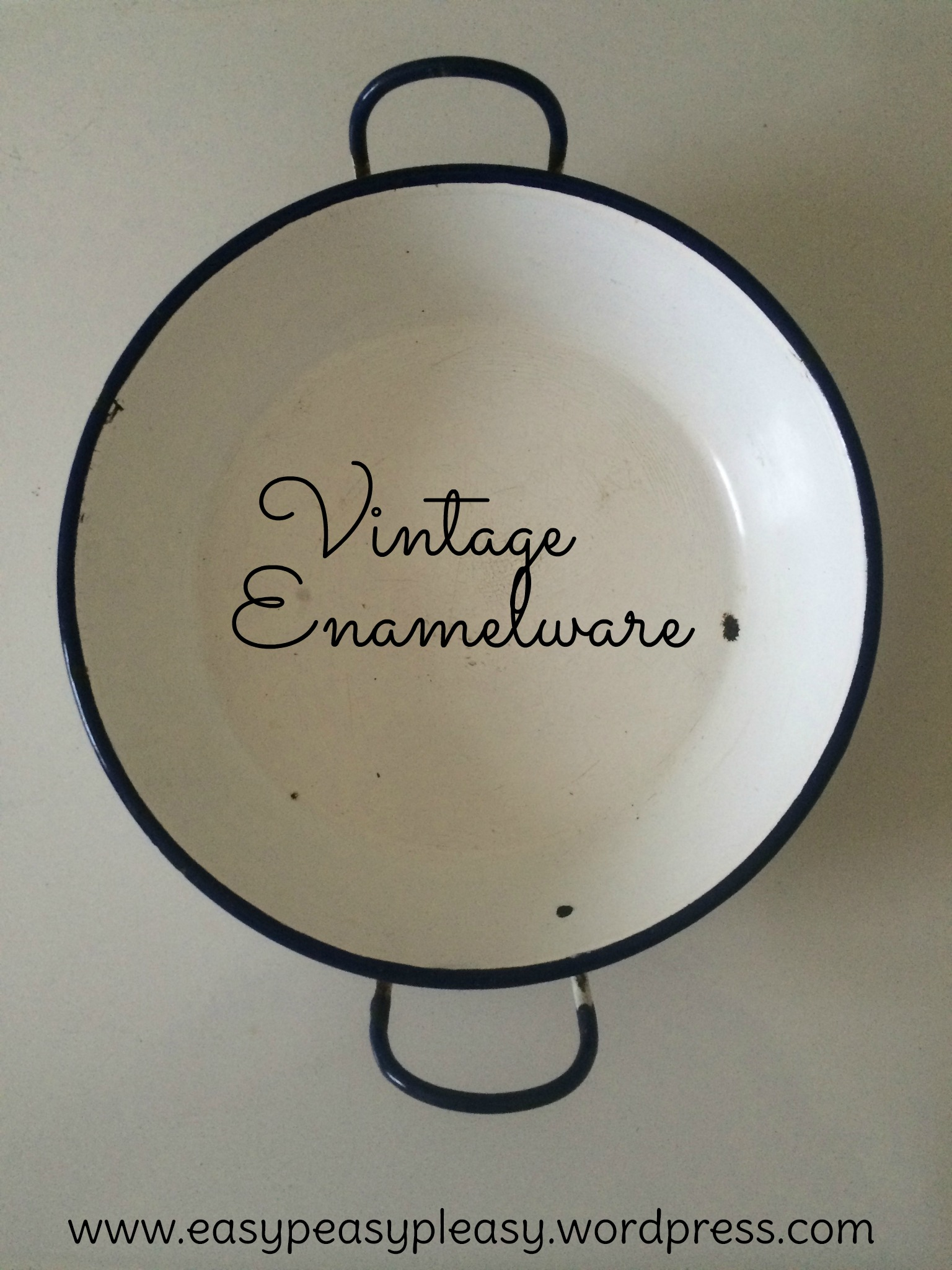 Upcycle Ideas for Vintage Enamelware at https://easypeasypleasy.com
