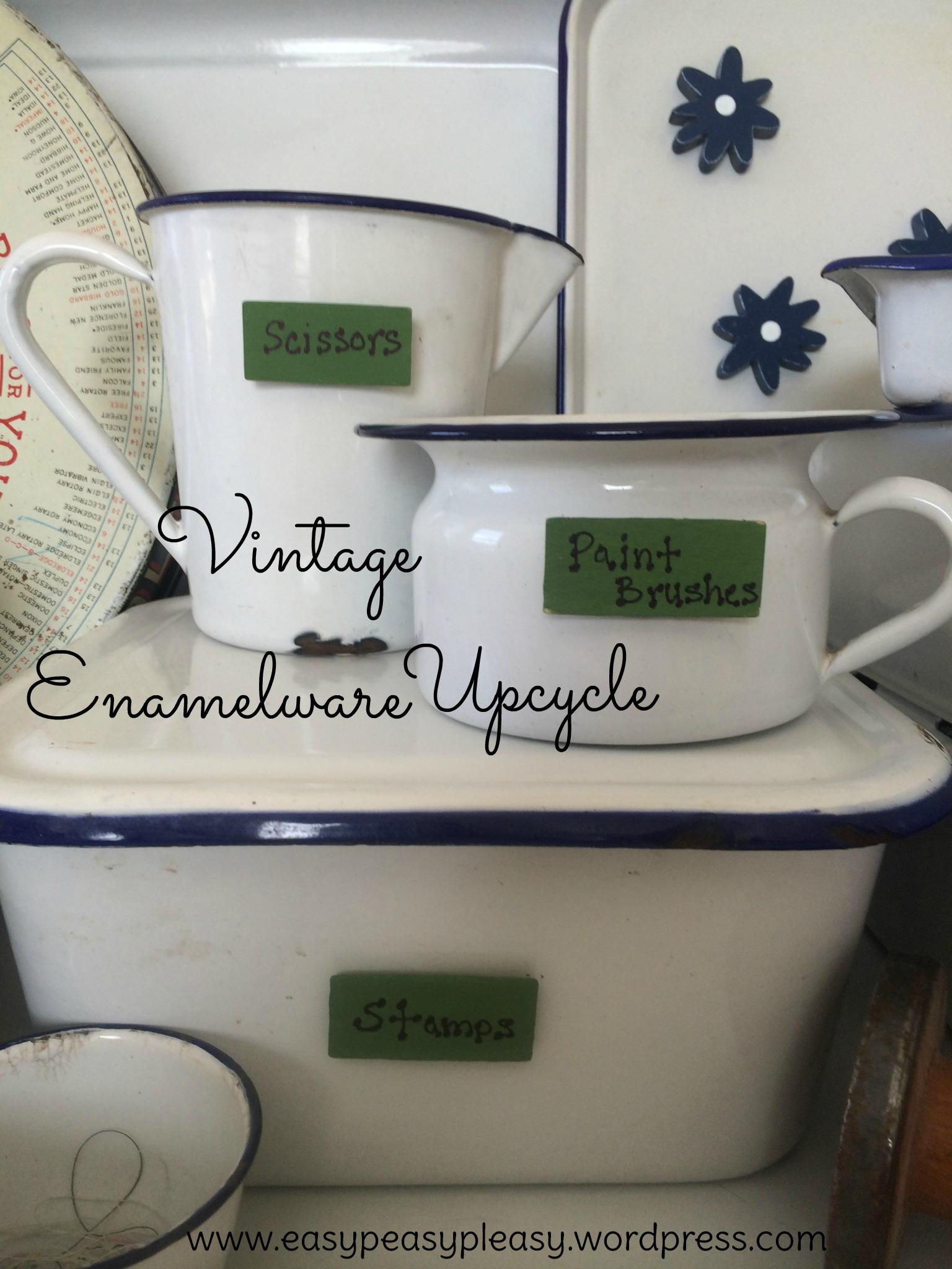 Vintage Enamelware Upcycle magnet ideas at https://easypeasypleasy.com