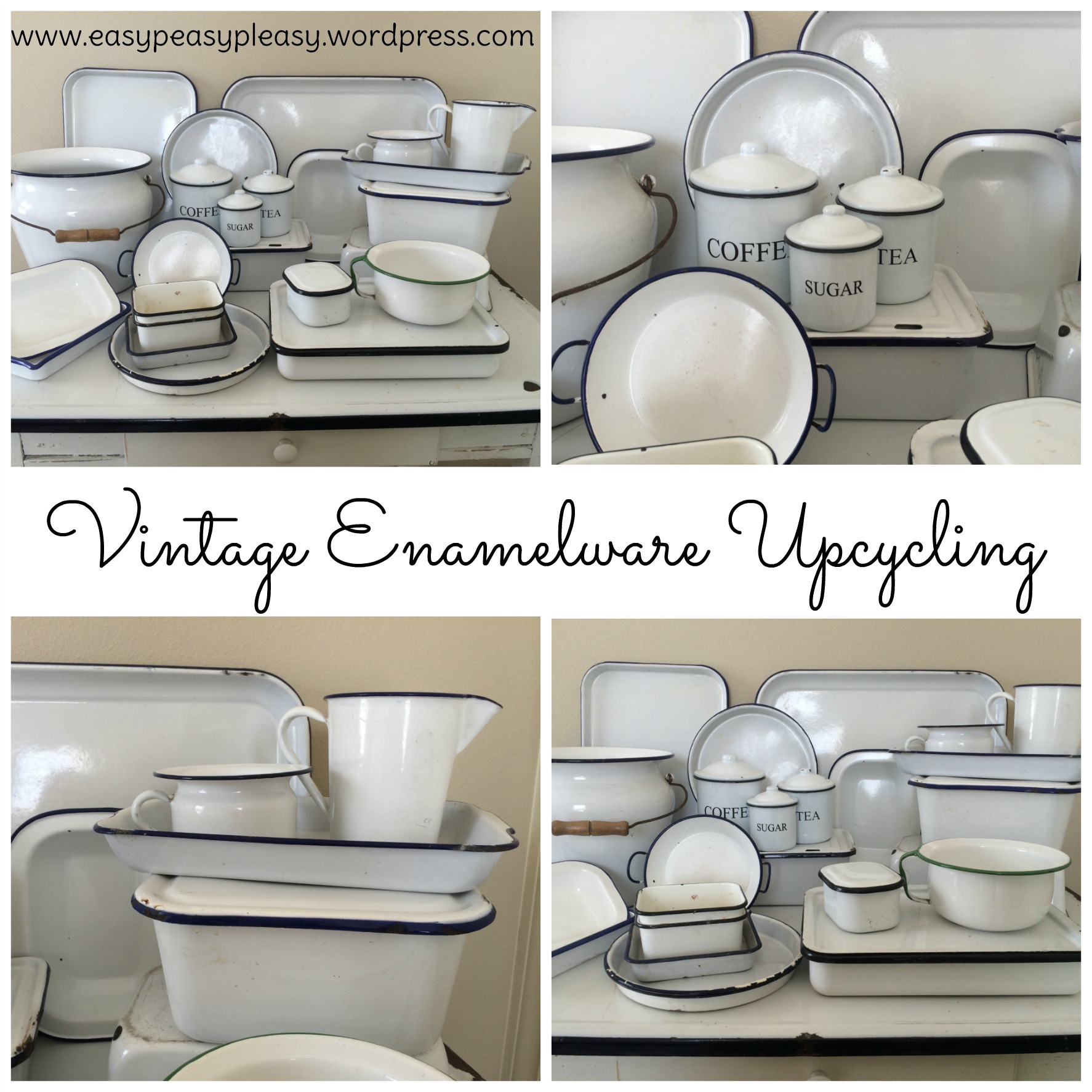 Vintage Enamelware Upcycling ideas for all rooms in the house at https://easypeasypleasy.com