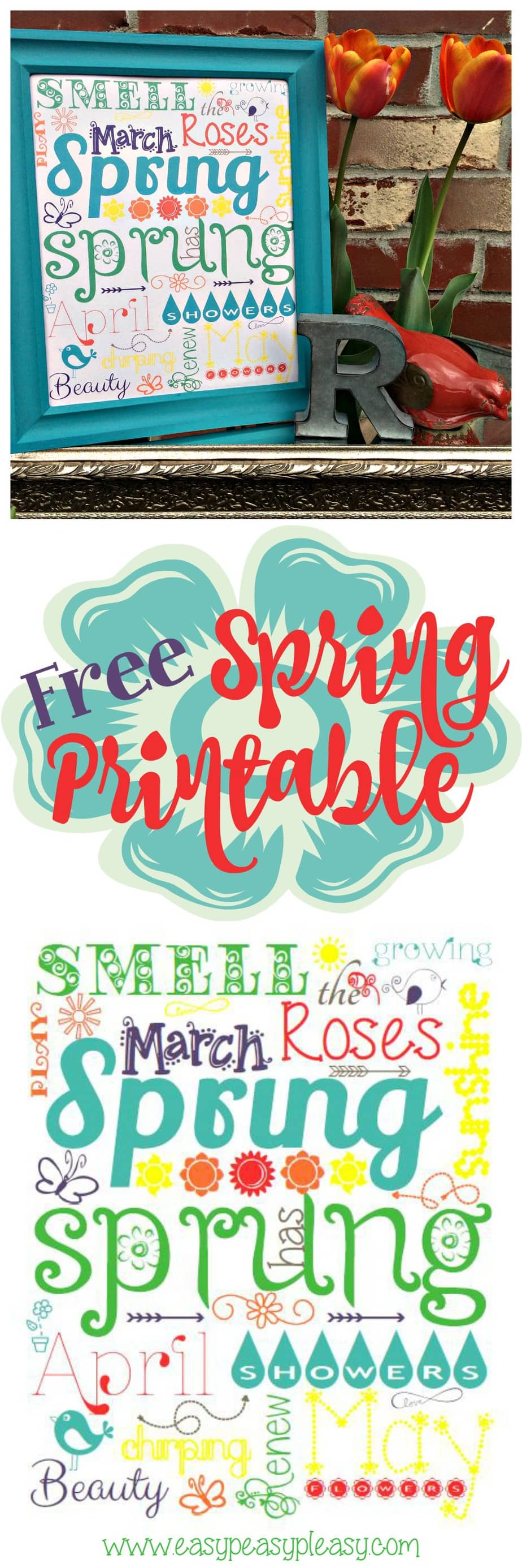 Free Spring Printable Using PicMonkey Subway Art
