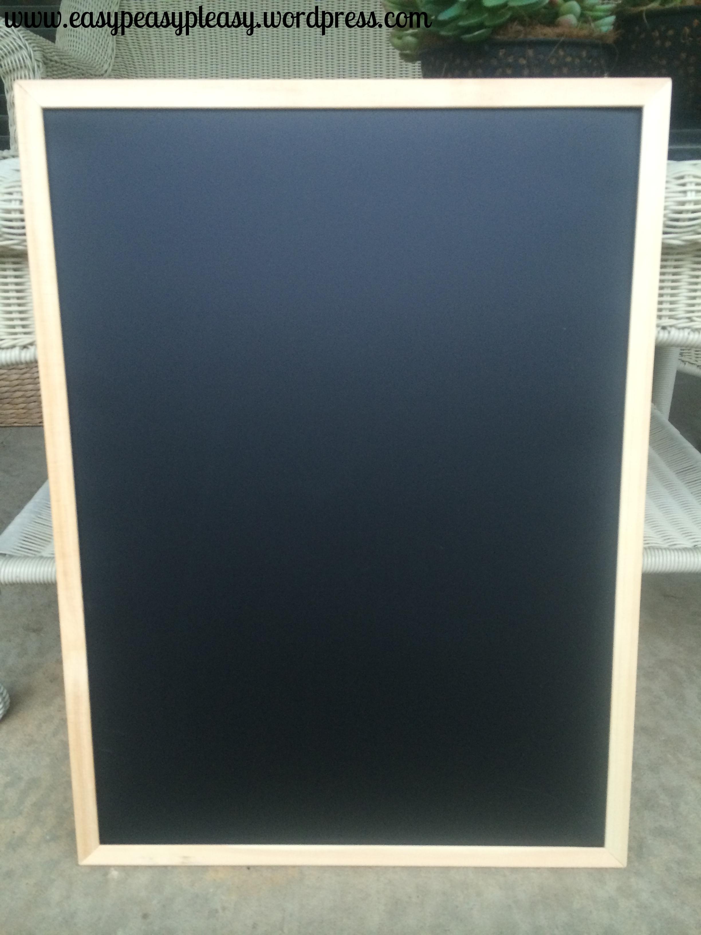 Chalkboard for birth announcement