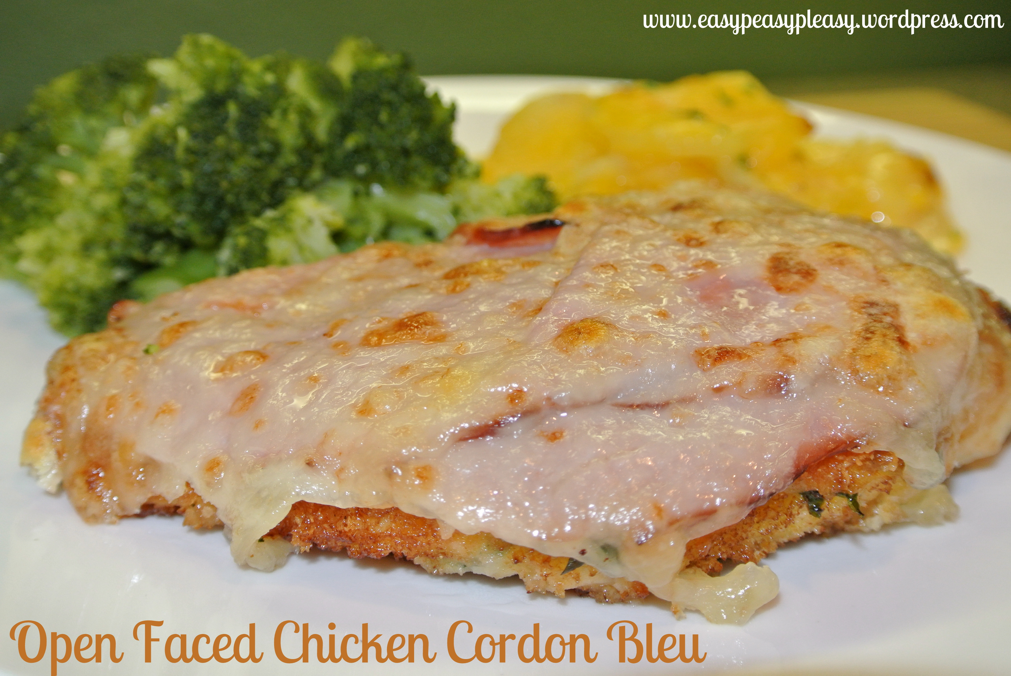 Chicken Cordon Bleu Redo at https://easypeasypleasy.com