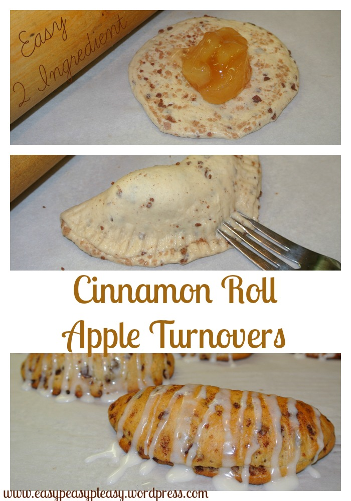 Easy 2 Ingredient Cinnamon Roll Apple Turnovers