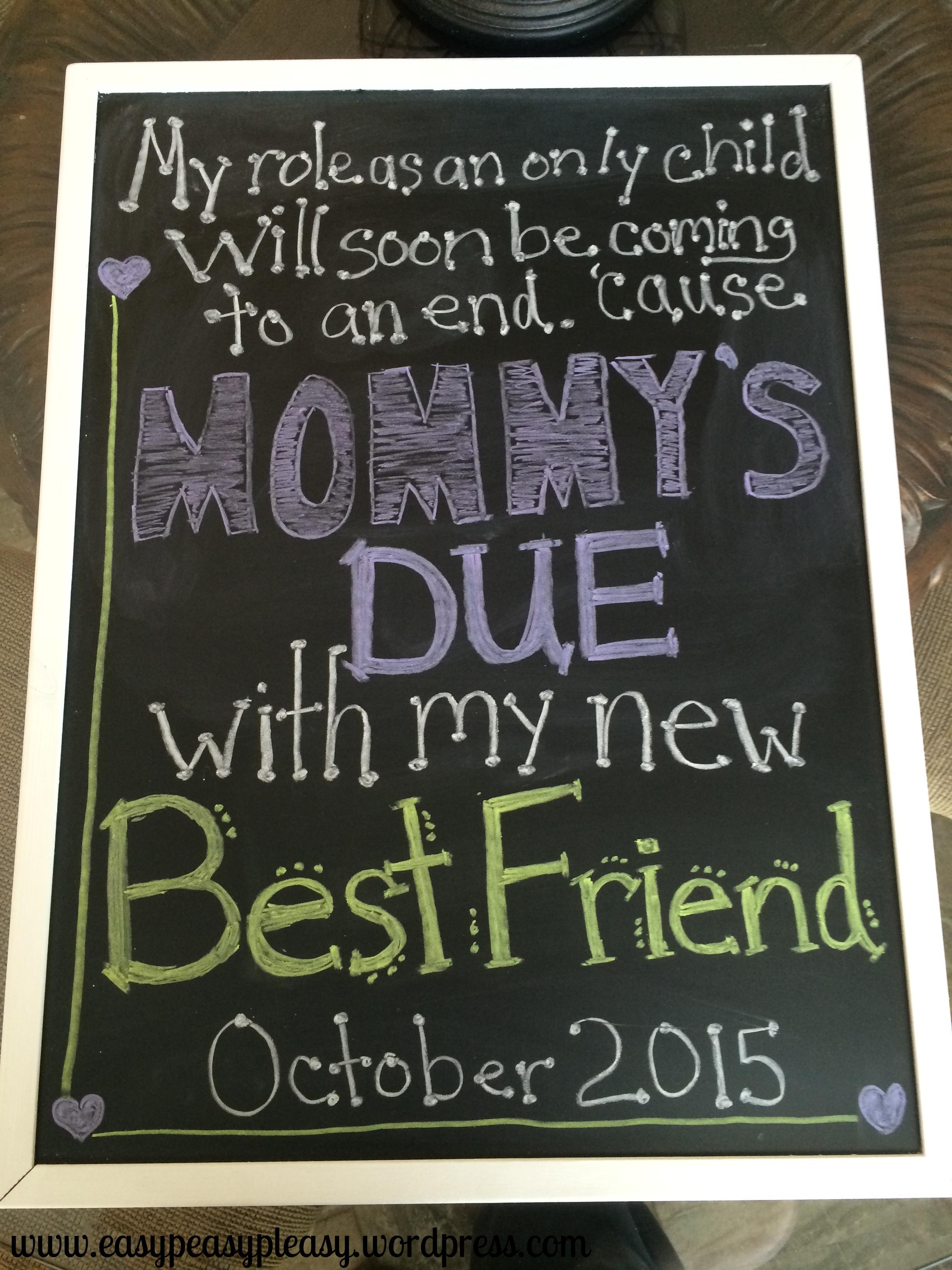 Easy DIY chalkboard birth announcement