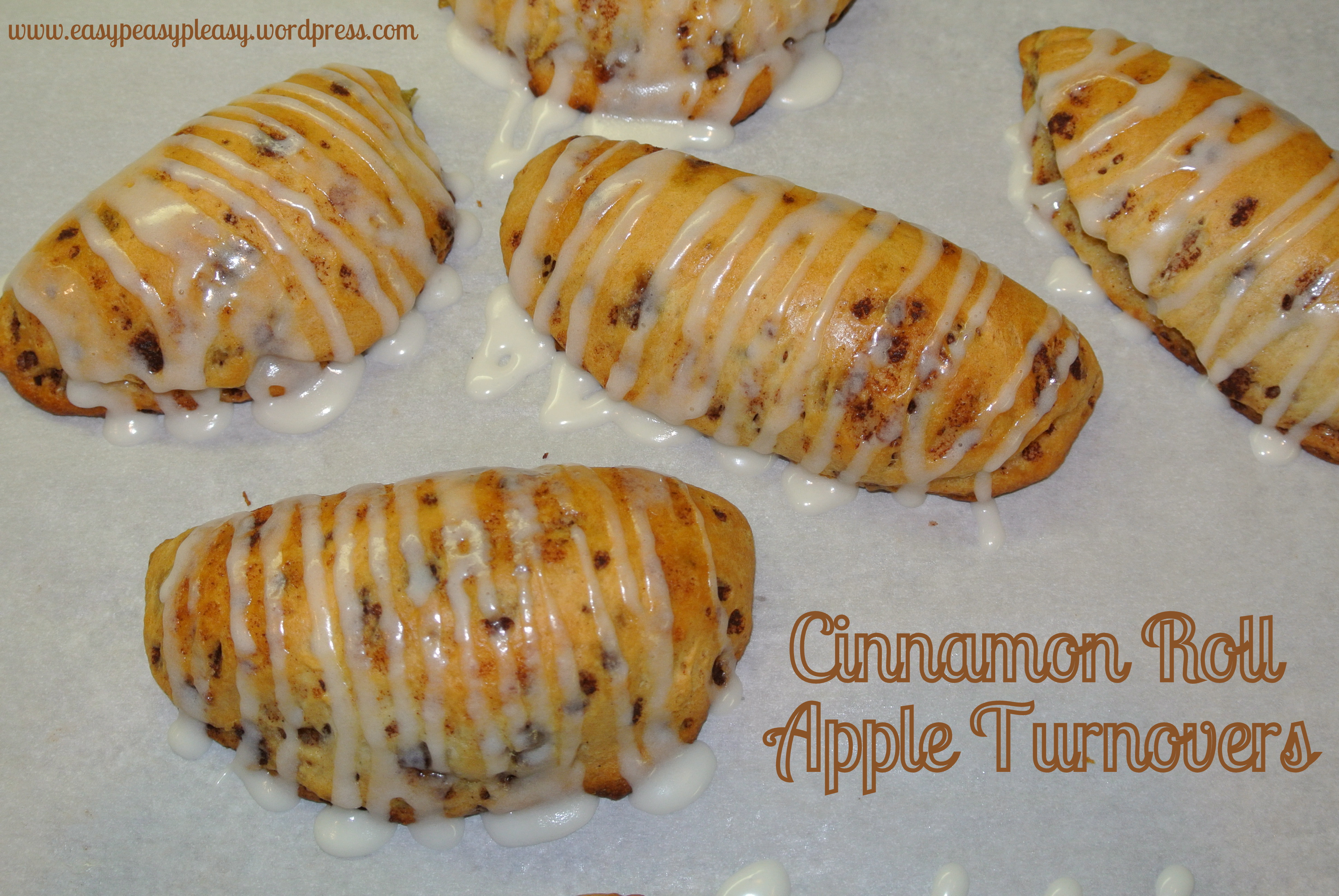 Easy Peasy Cinnamon Roll Apple Turnovers only 2 Ingredients