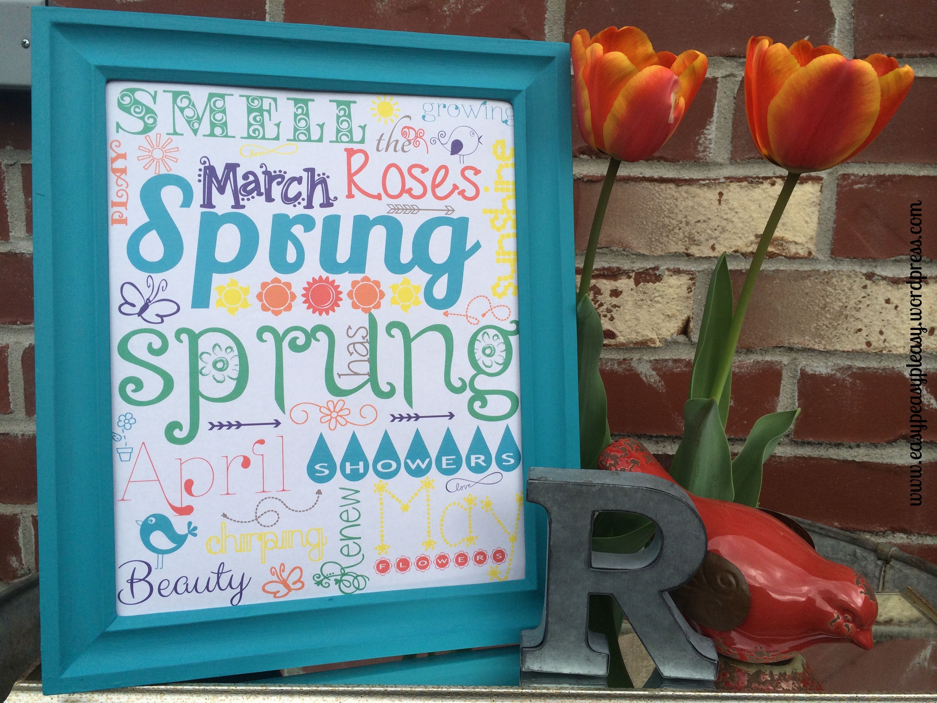 Free Spring Printable at https://easypeasypleasy.com