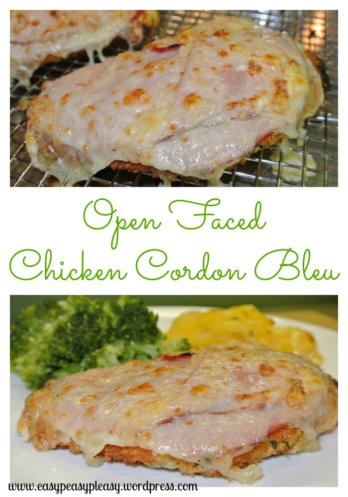 Open Faced Chicken Cordon Bleu