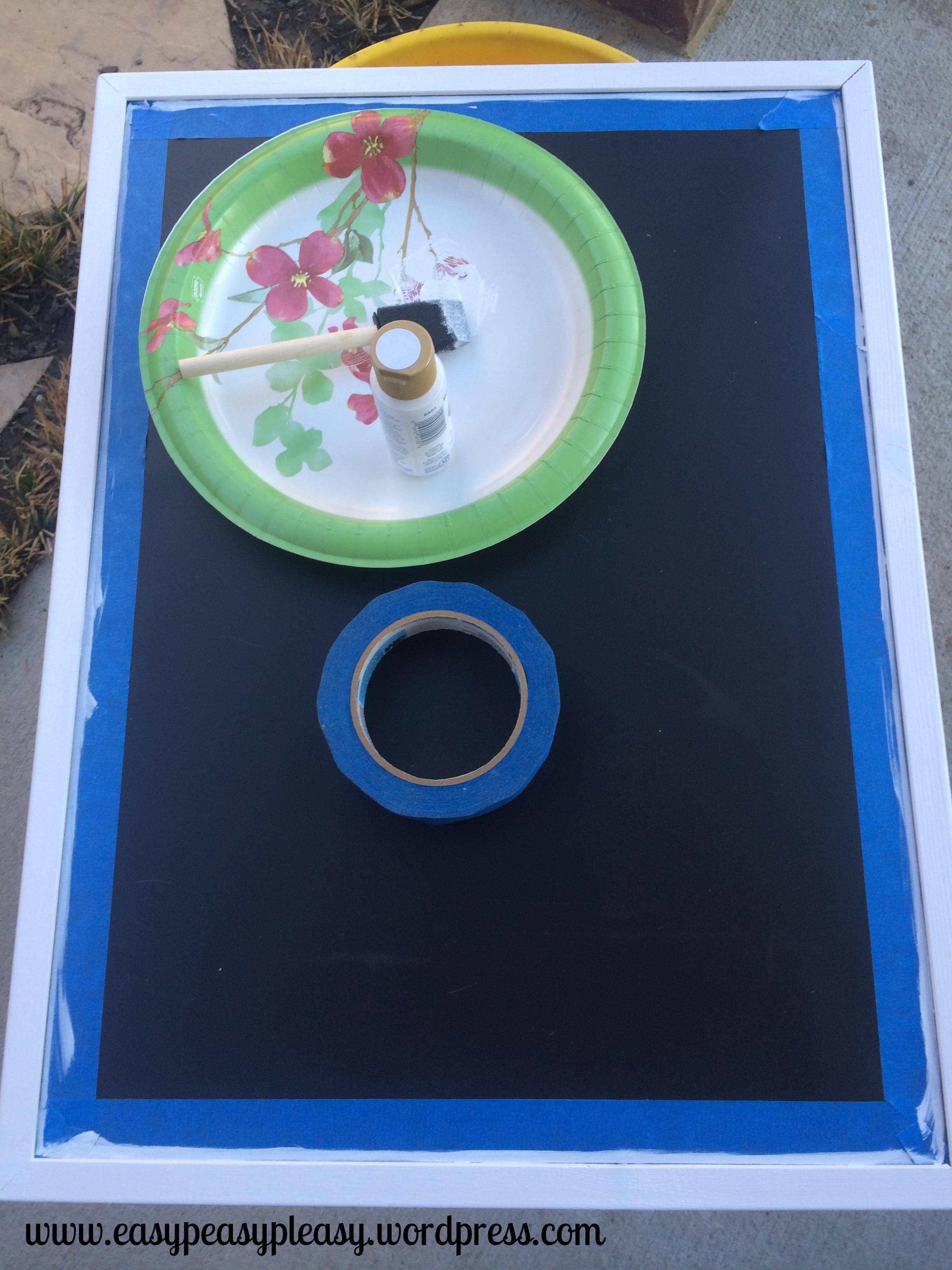 painting a chalkboard frame DIY