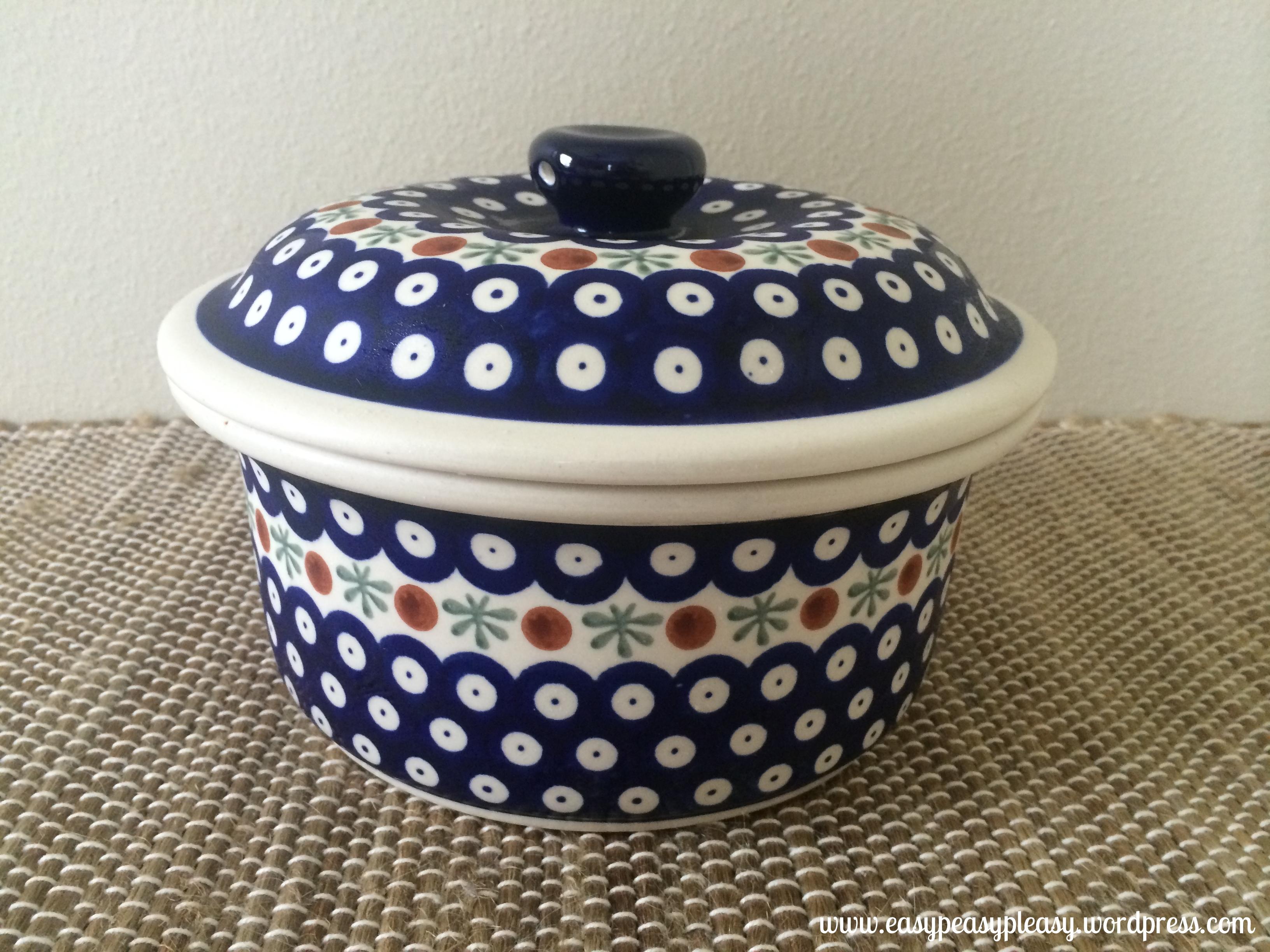 Polish Pottery Casserole Dish perfect size for corn tortilla