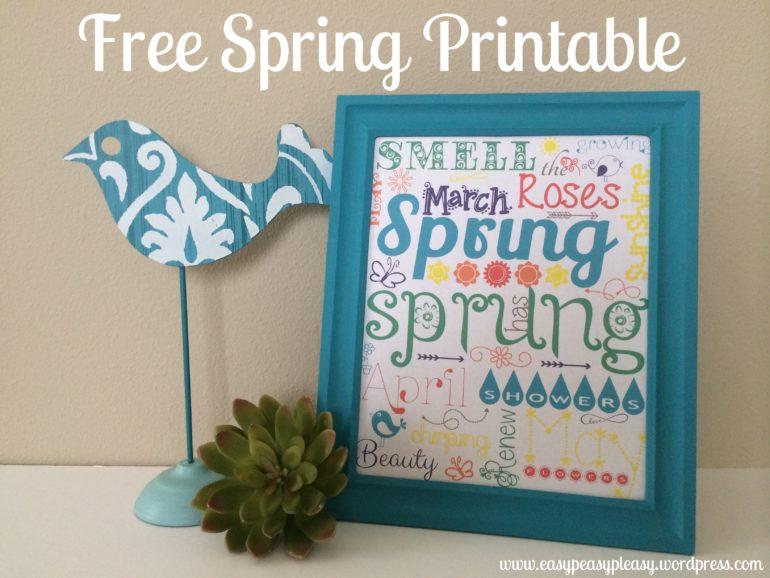 Spring Free Printable at https://easypeasypleasy.com