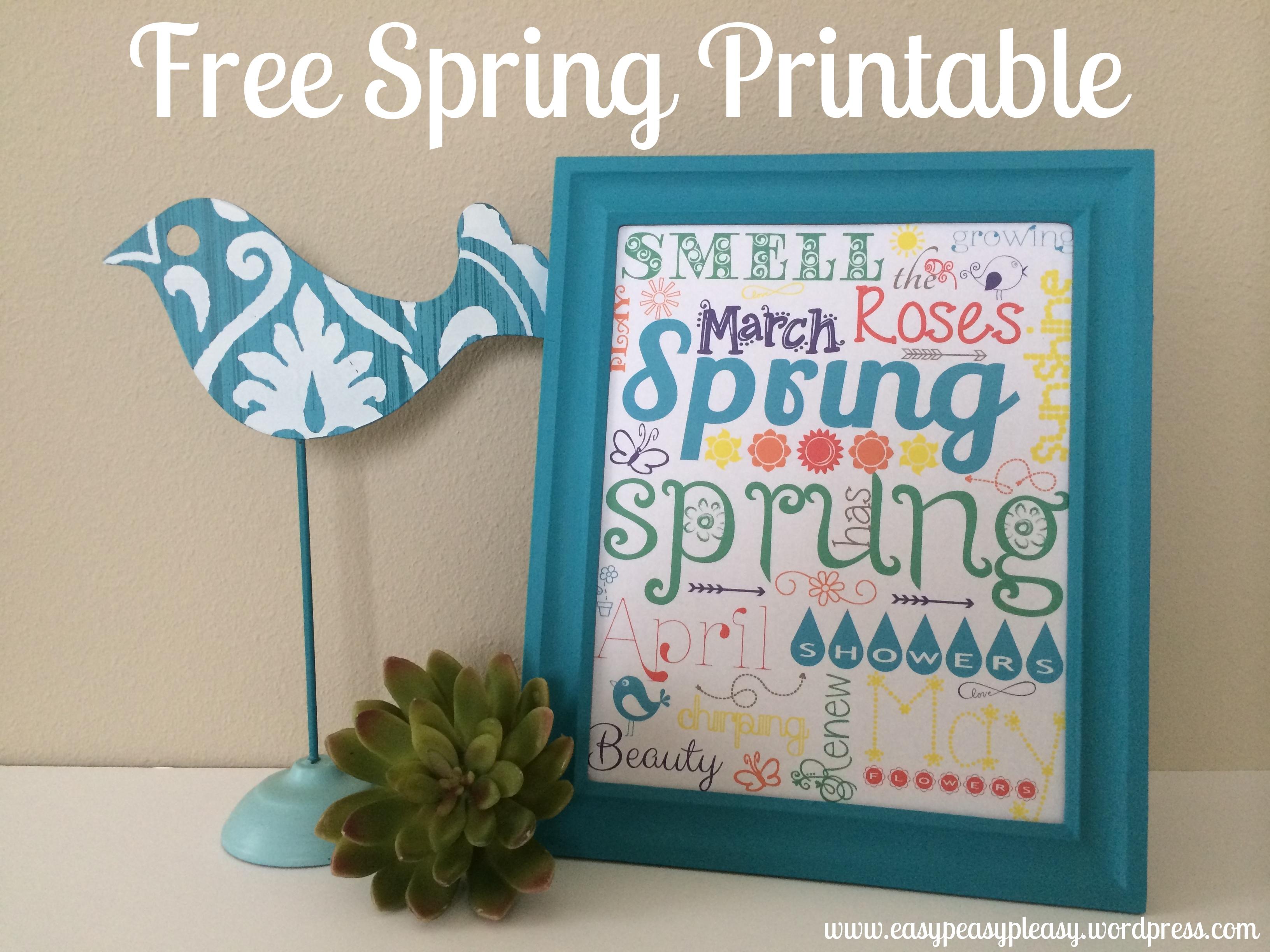 Free Spring Printable using PicMonkey