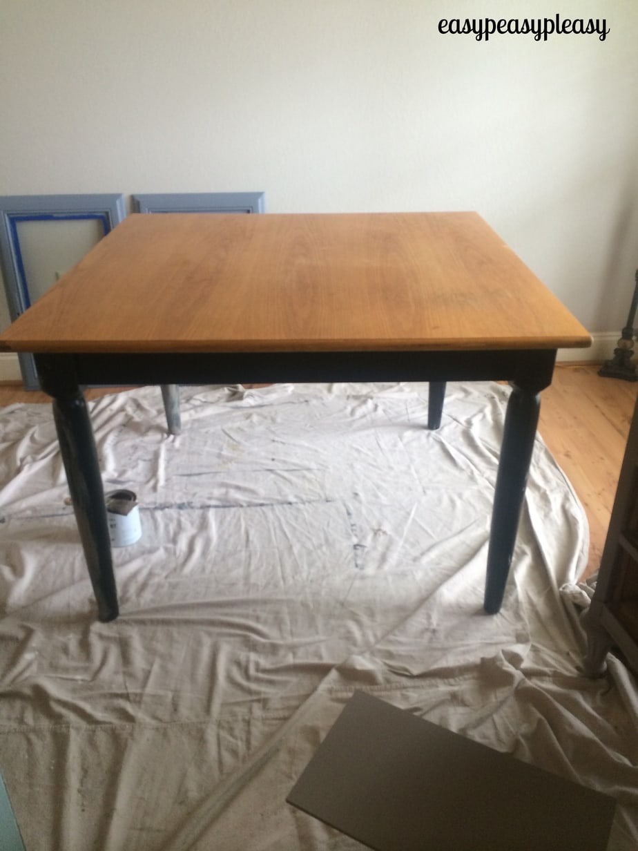 DIY Table redo with Annie Sloan Chalk Paint