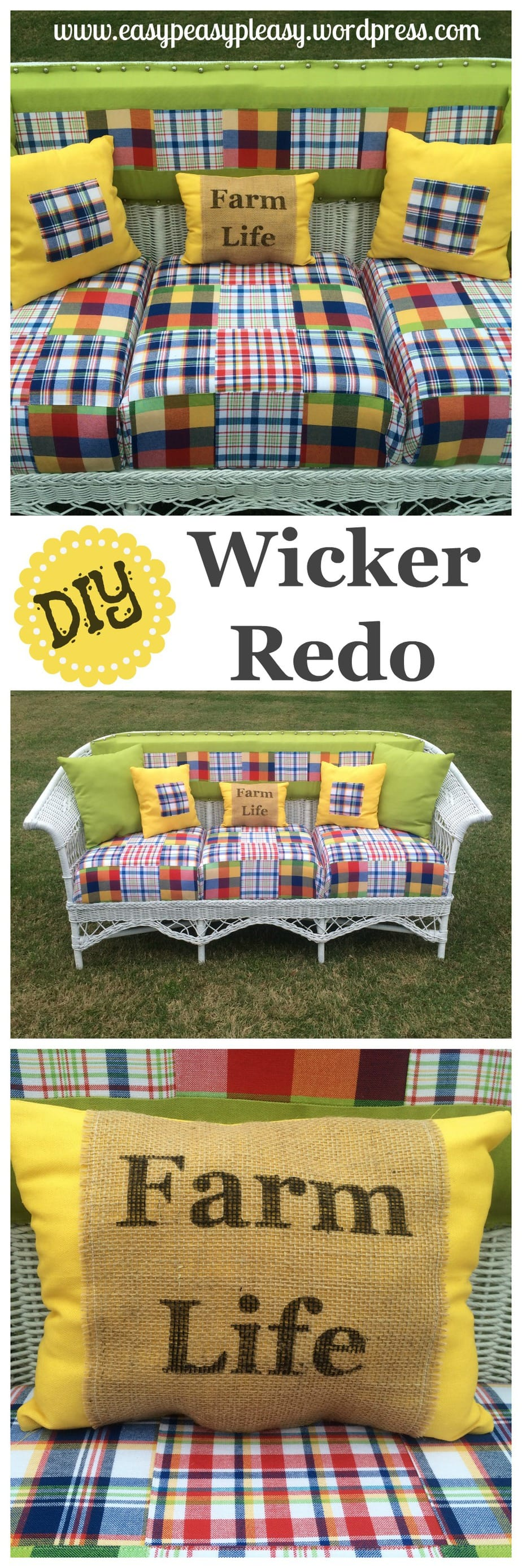 How to restore wicker DIY tutorial