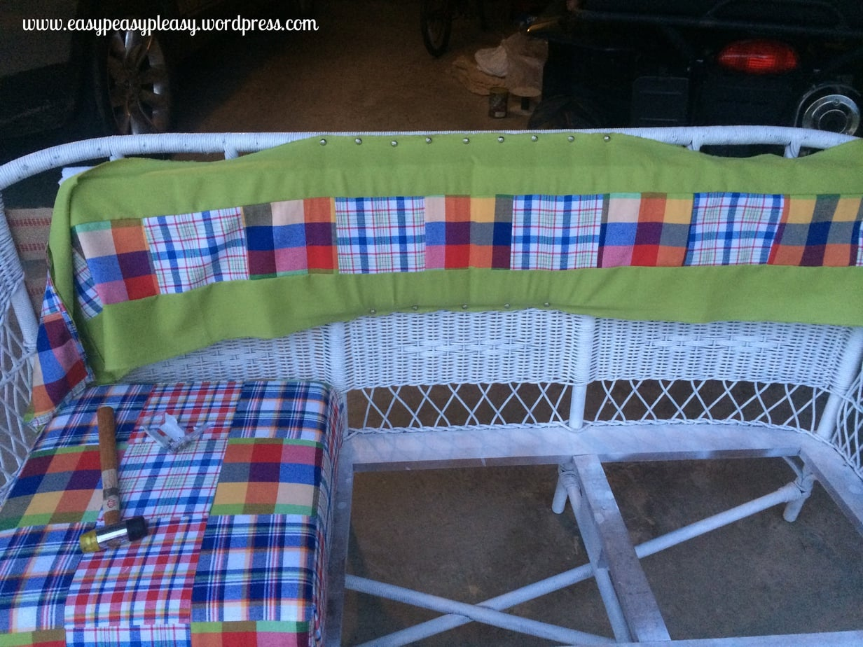 How to upholster wicker furniture DIY