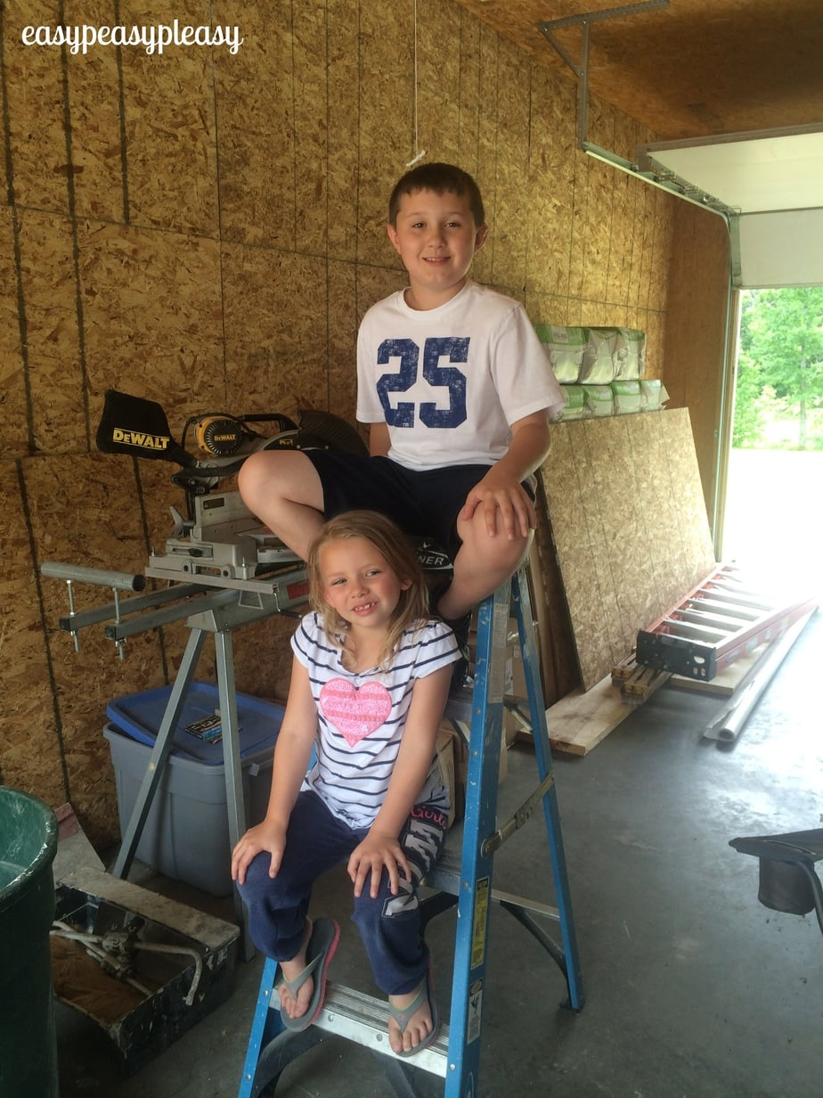 Kiddos taking a DIY break