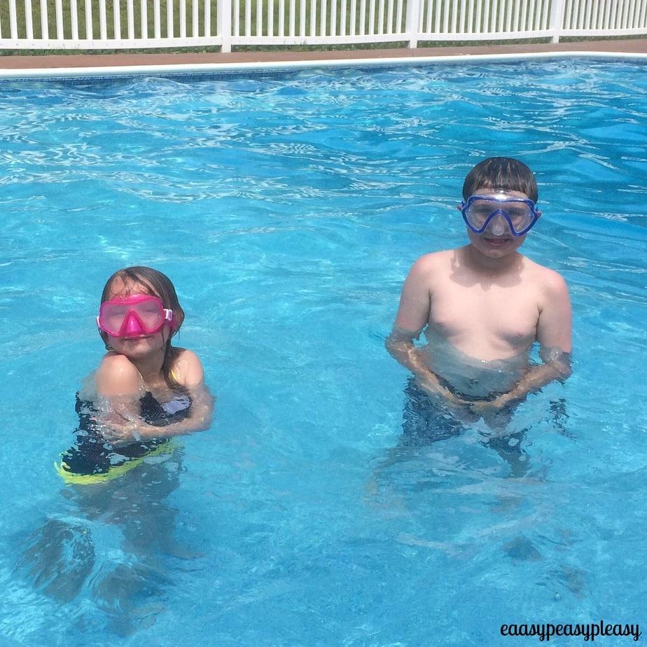 Kiddos taking a swim break