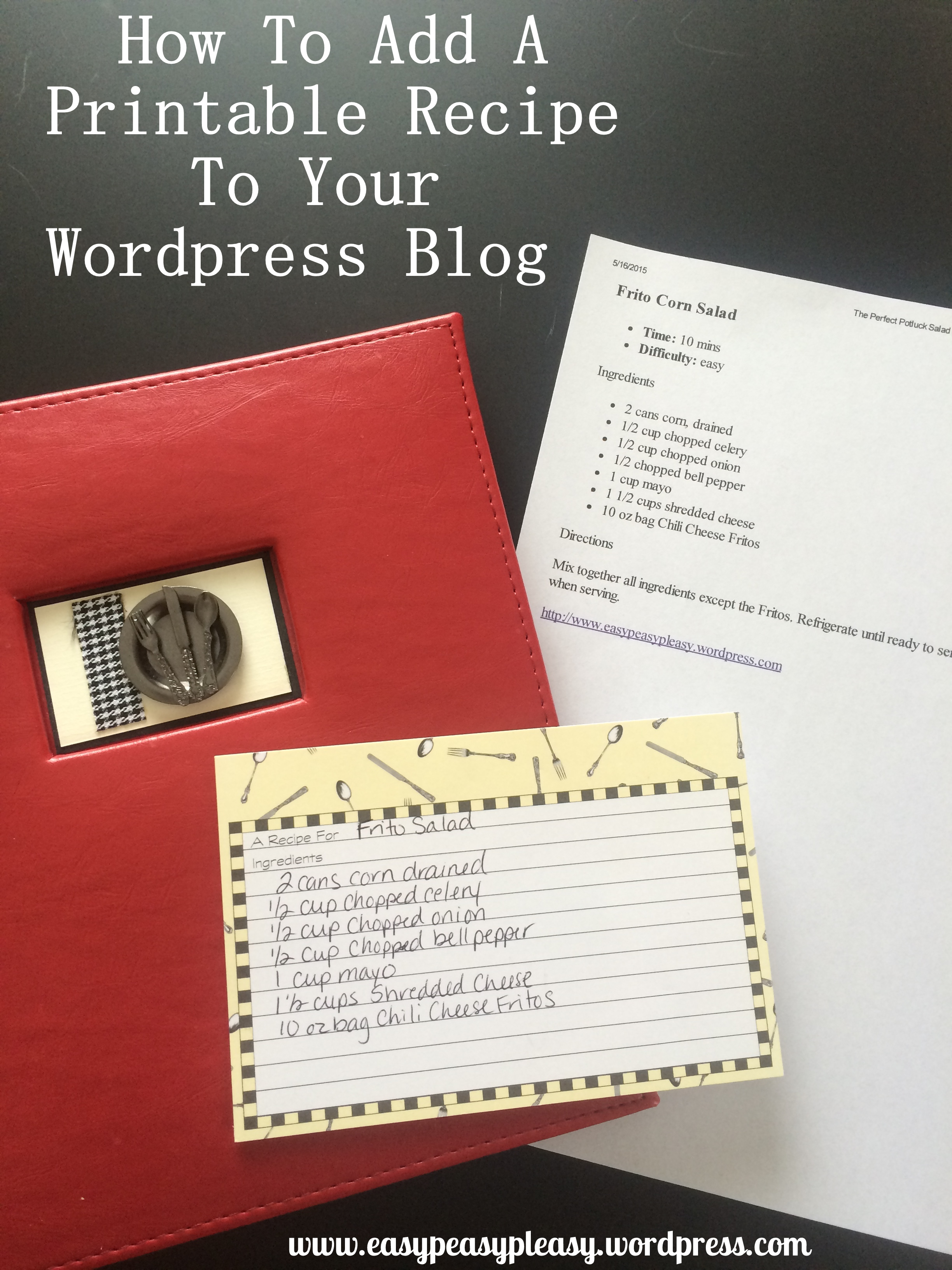 Let me show you how to add and embed a printable recipe to your WordPress blog.