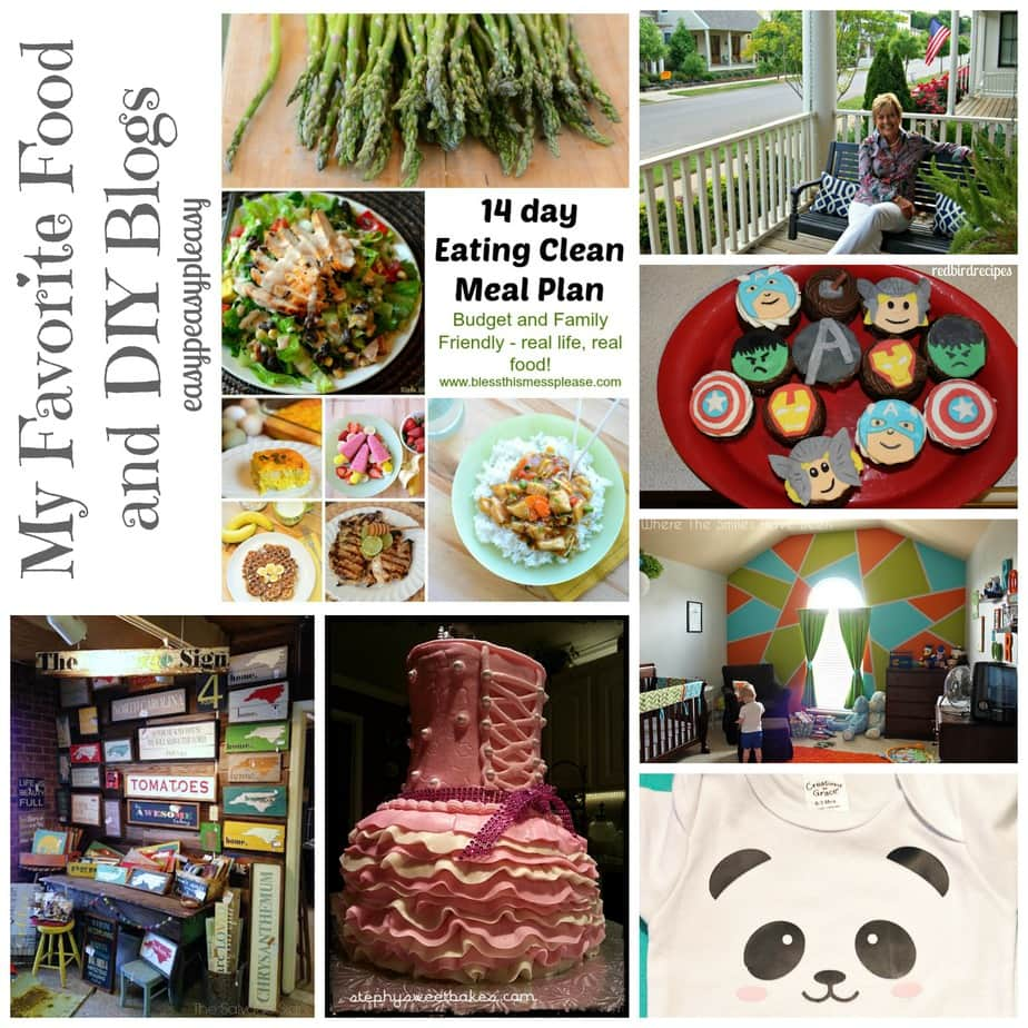 My Favorite Food and DIY Blogs at www.easypeasypleasy.com