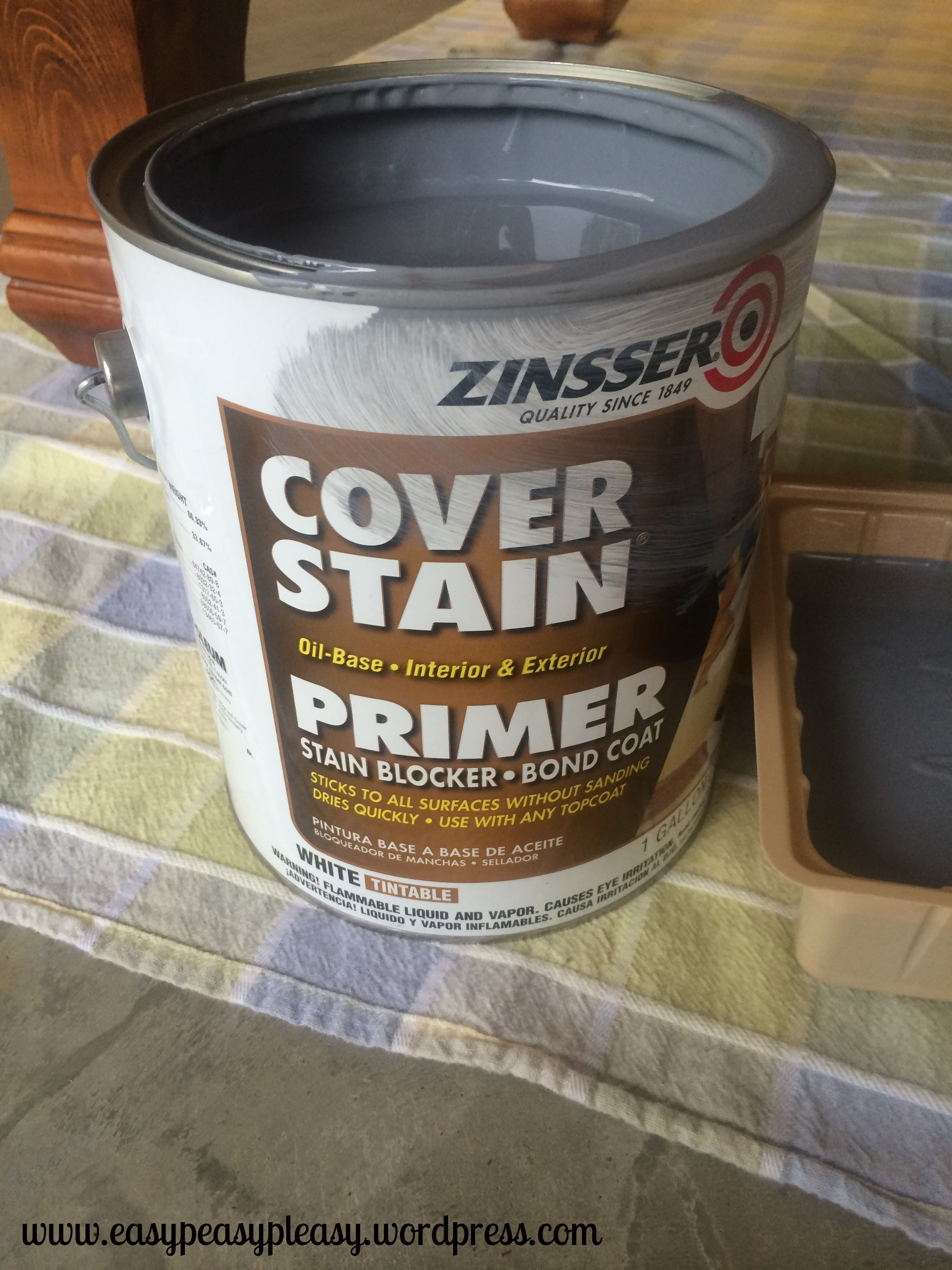 No need to sand wood before painting, just use a coat of Cover Stain Primer