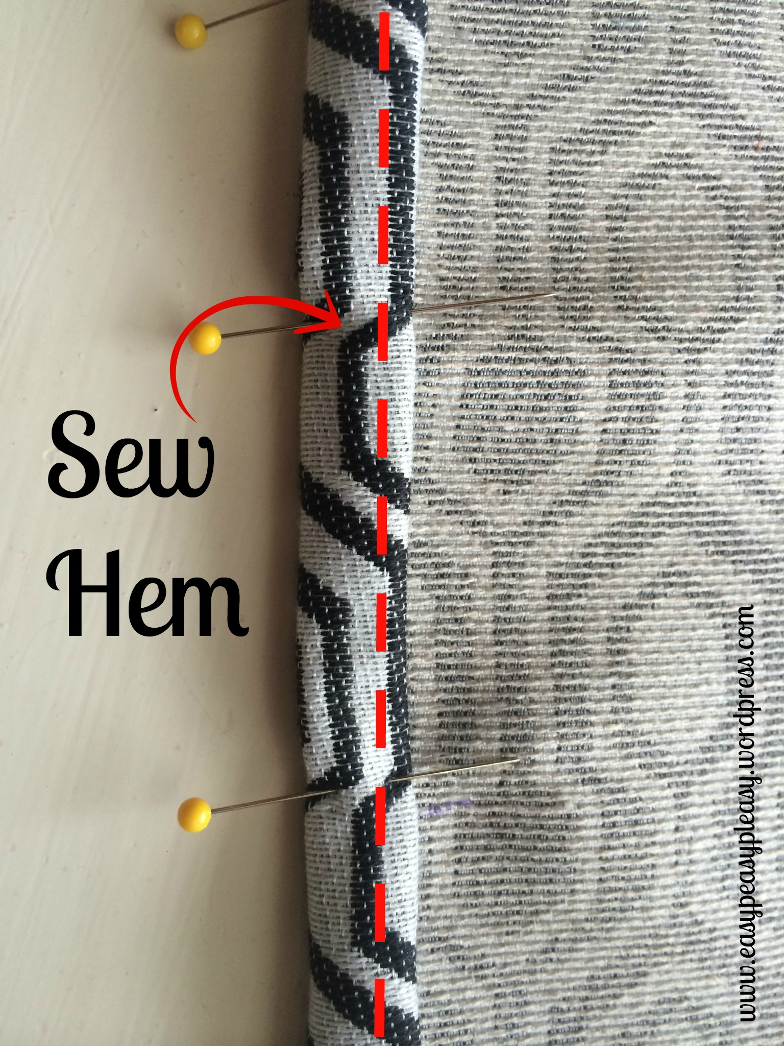 Quick and easy envelope pillow tutorial with no ironing