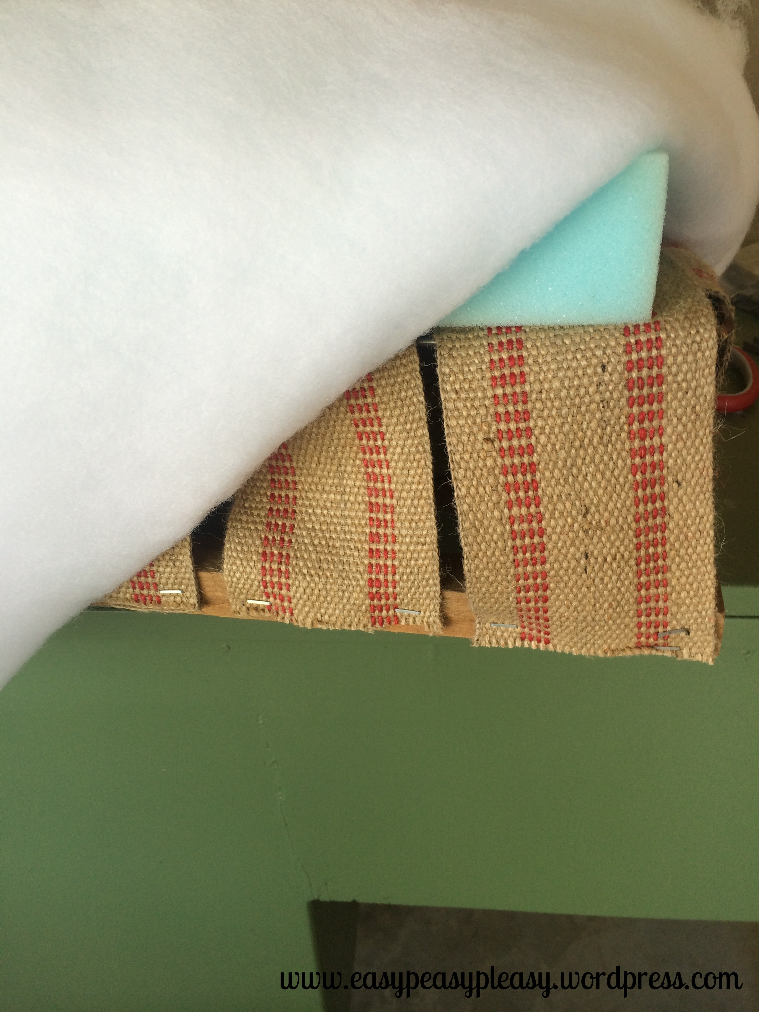 Restoring a spring loaded seat with jute webbing, foam, and batting