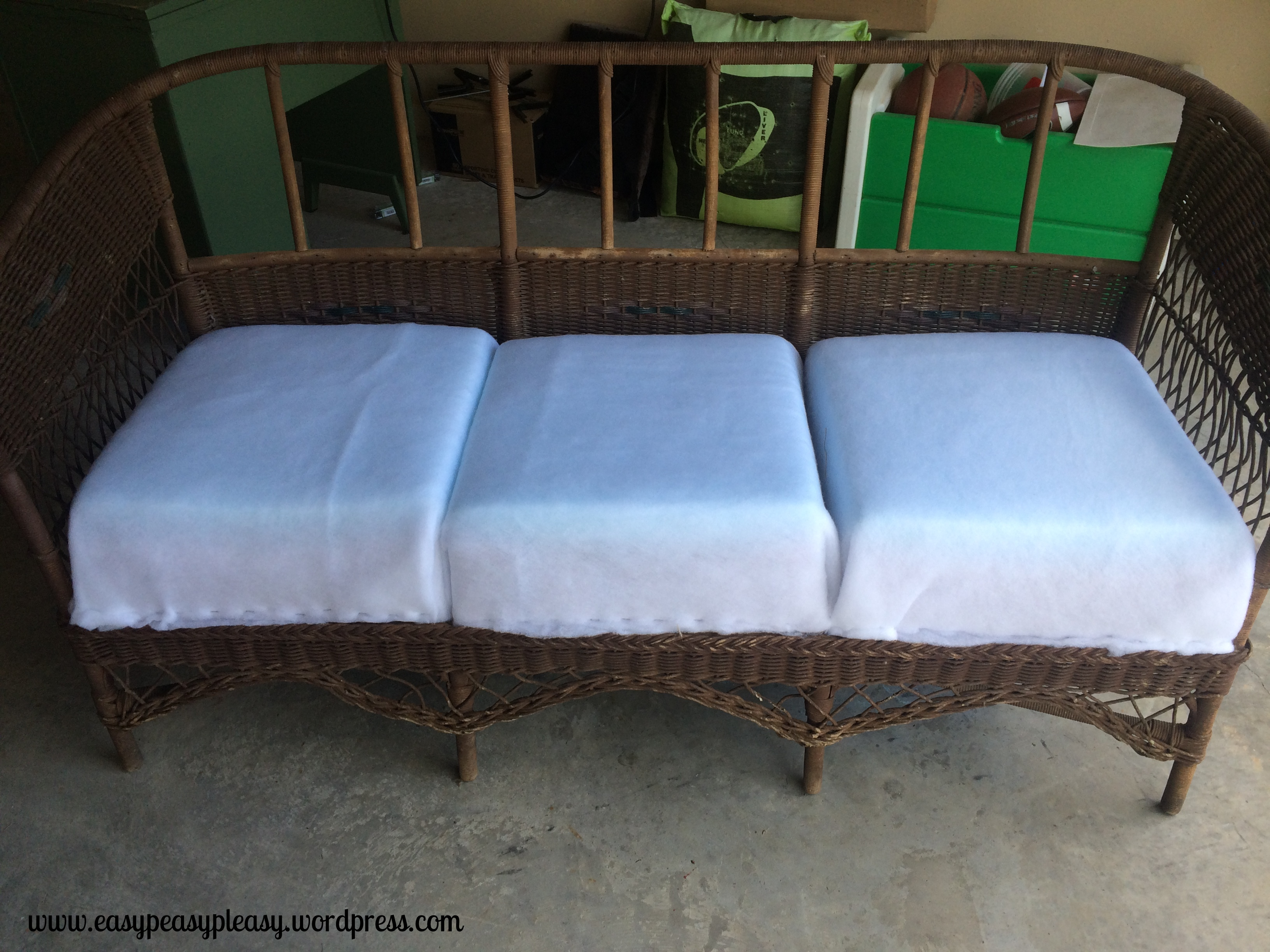 Restoring a Wicker Davenport with spring loaded seats