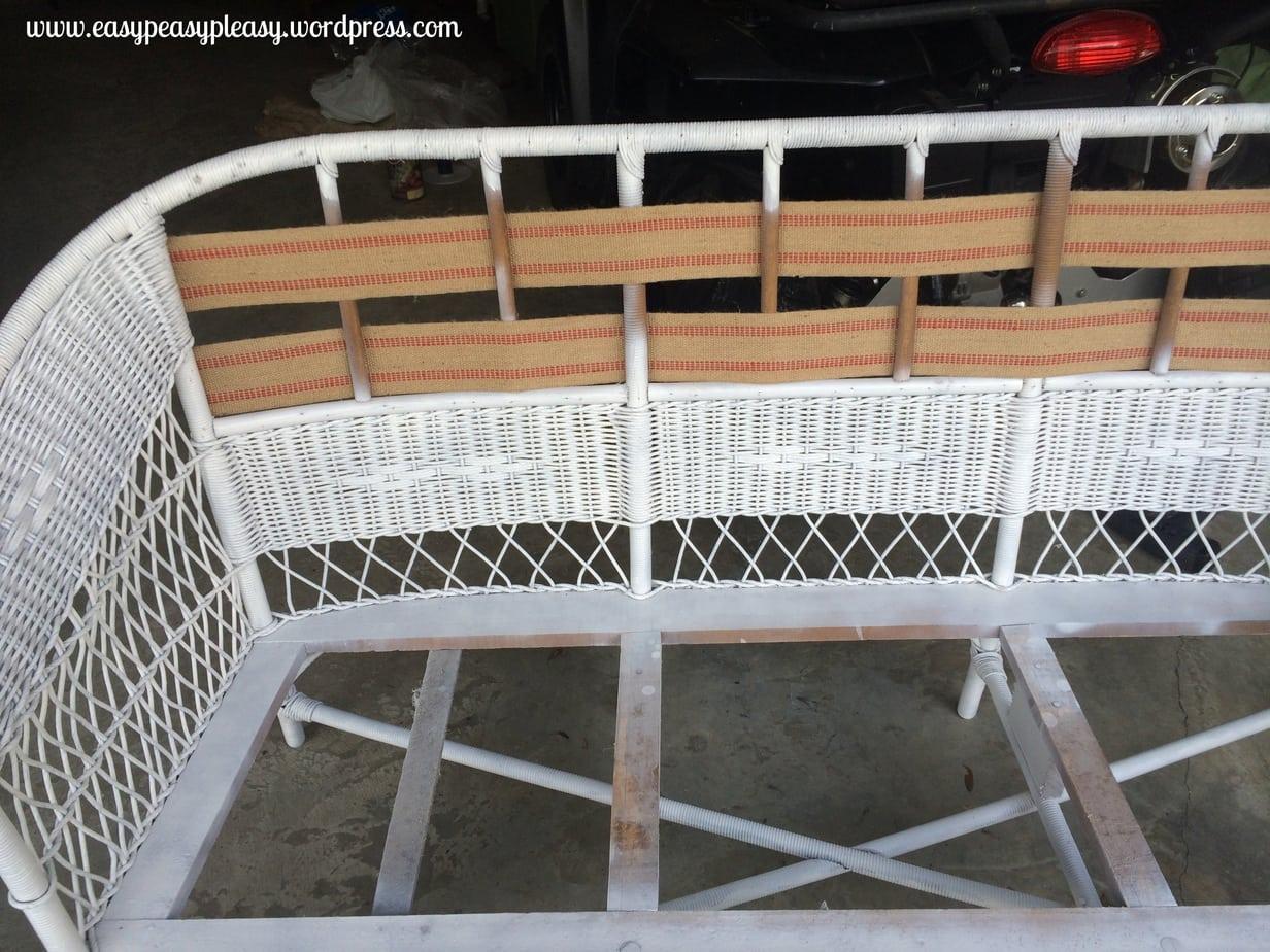 Restoring wicker furniture