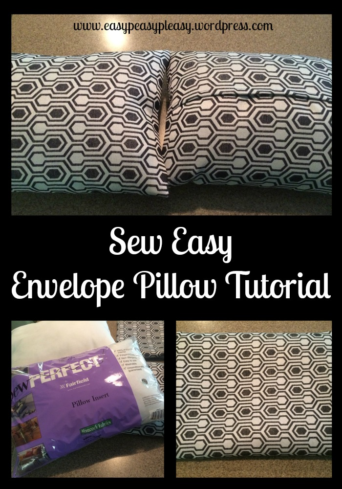 Sew Easy Envelope Pillow Tutorial at https://easypeasypleasy.com