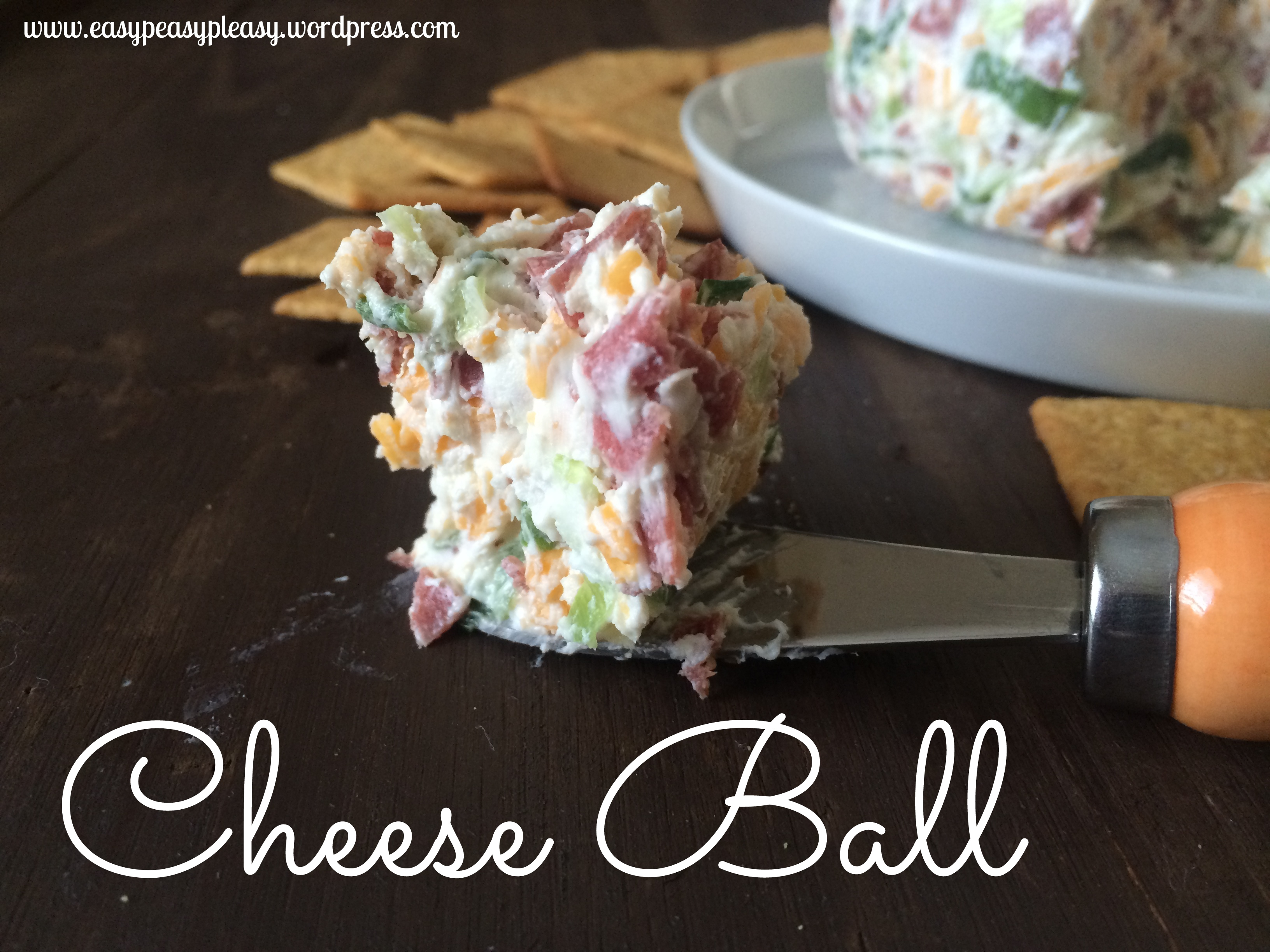 This Cheese Ball is a must try with only 4 Ingredients