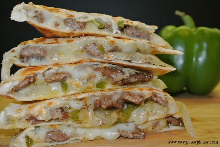 Cheese Steak Quesadillas are a great twist on a classic Quesadilla
