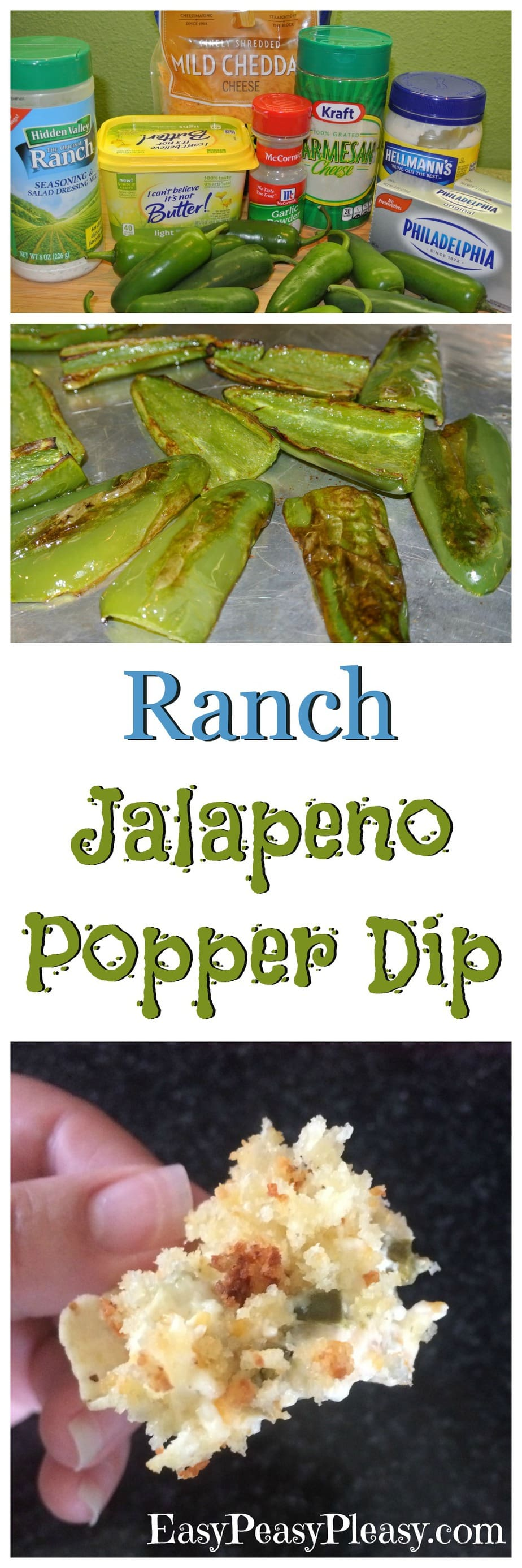 Easier than Jalapeno Poppers Ranch Jalapeno Popper Dip