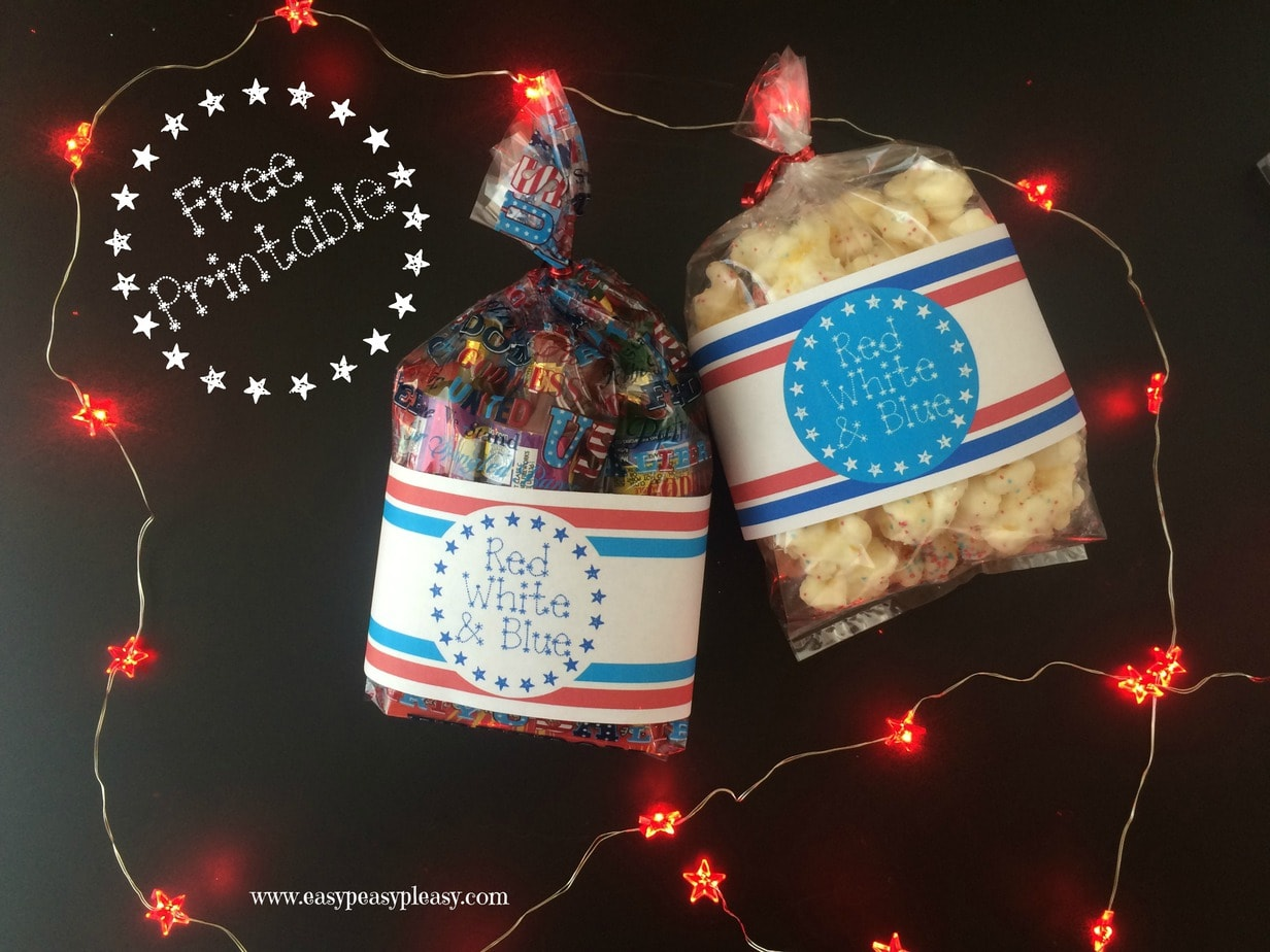 Free 4th of July Printable Gift Bag Labels