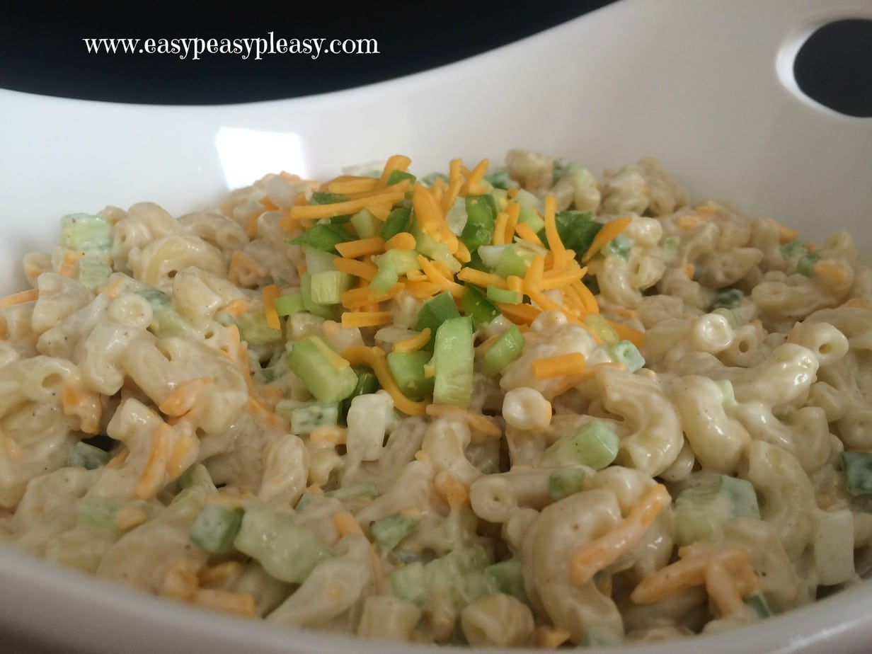 Summer Macaroni Salad is perfect for your next potluck, BBQ, or party!