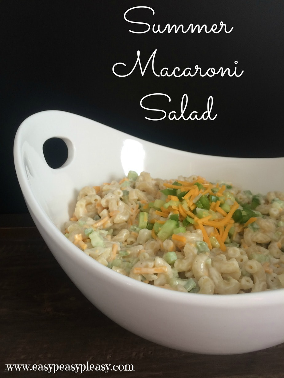 This is the perfect Summer Macaroni Salad that's great for potlucks, BBQ's and Picnics!