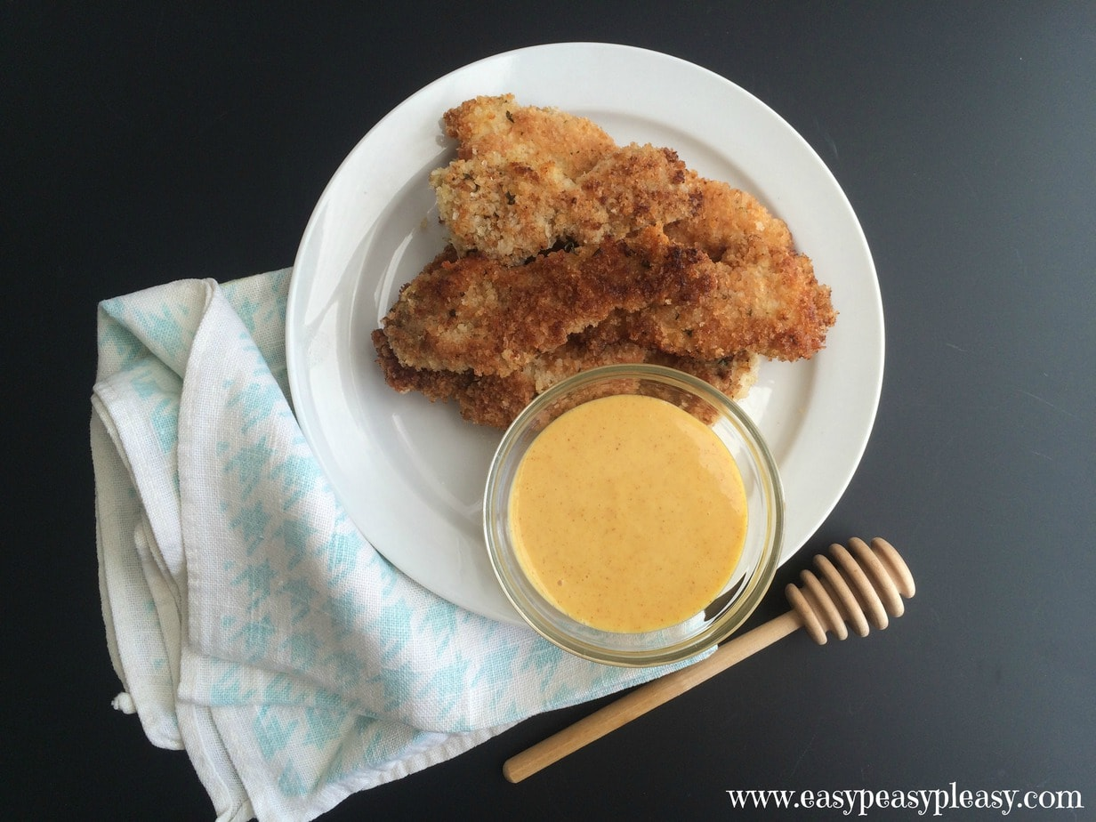 Delicious Honey Mustard Dipping Sauce using only 4 ingredients and works great as marinade or on sandwiches
