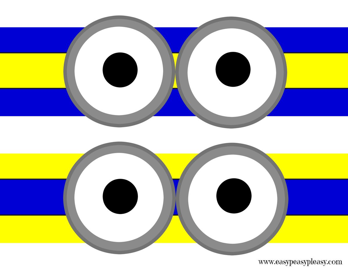picture relating to Minion Printable Free called No cost Minions Printable - Very simple Peasy Pleasy