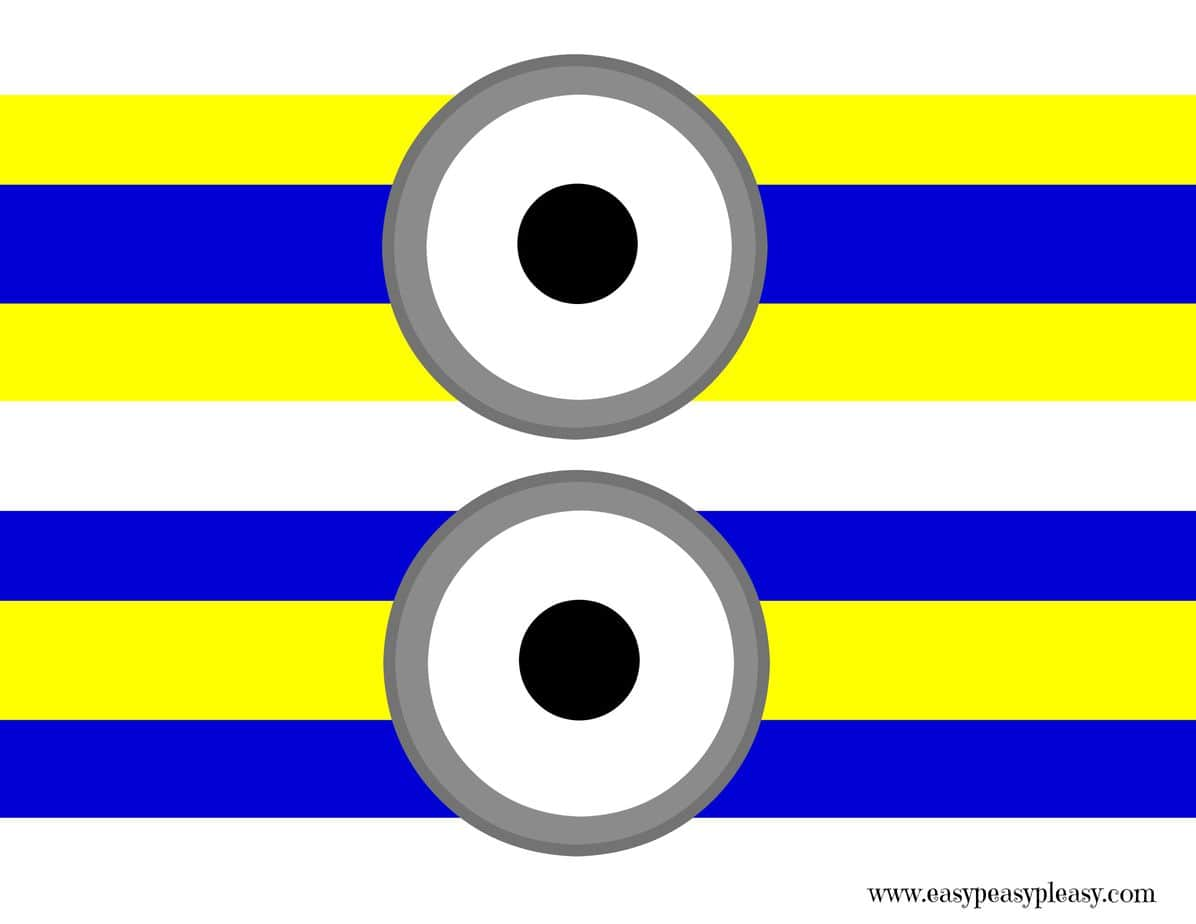 photograph regarding Minion Symbol Printable titled Totally free Minions Printable - Simple Peasy Pleasy