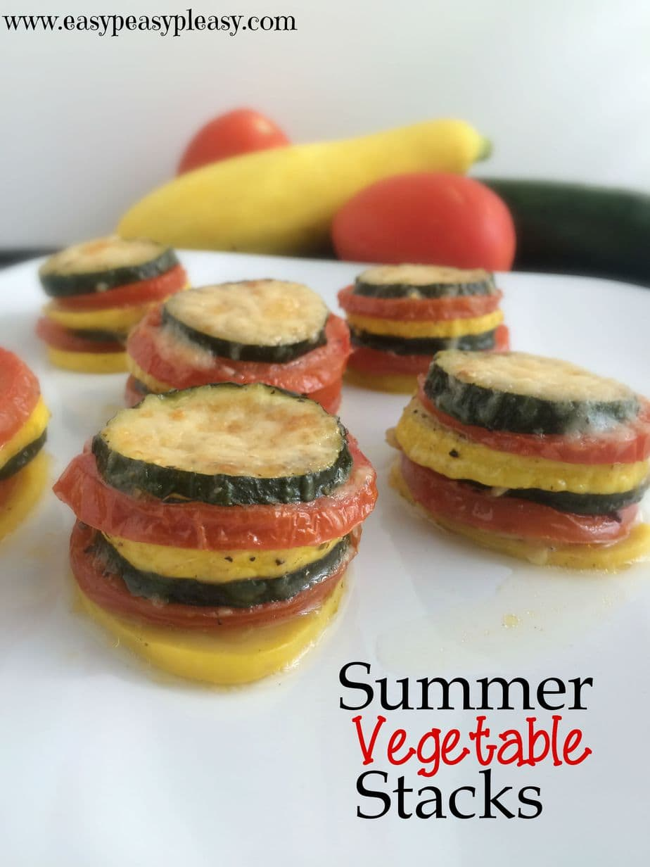 Summer Vegetable Stacks are a fun way to serve up your veggies. They are easy and delicious.