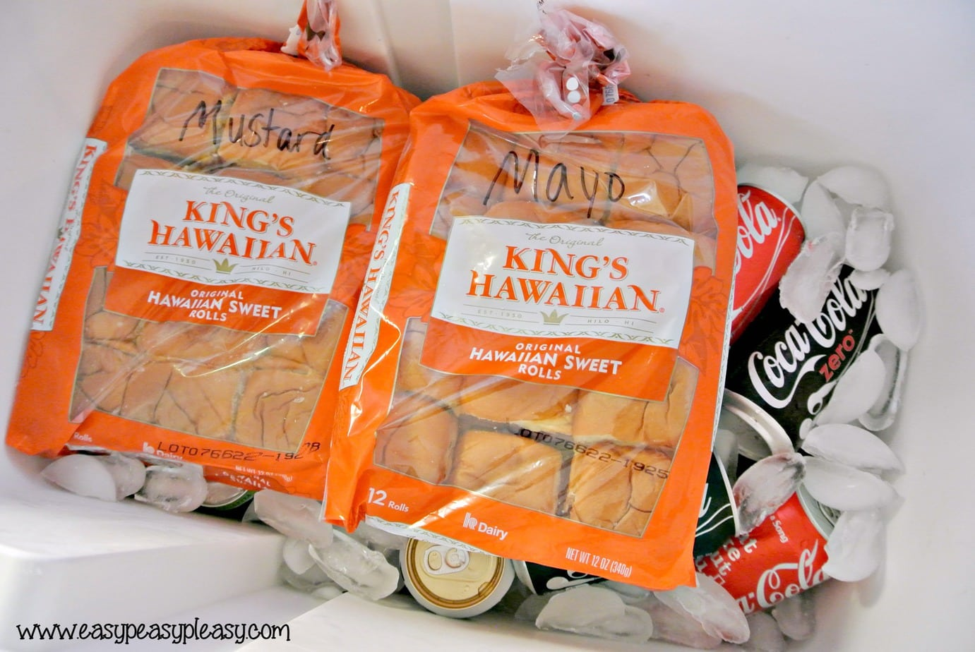 The easiest To Go Sandwiches for your cooler that require no cleanup when the fun is done!
