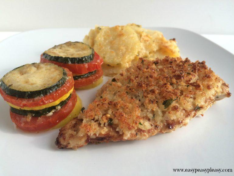 Caesar Parmesan Crusted Chicken
