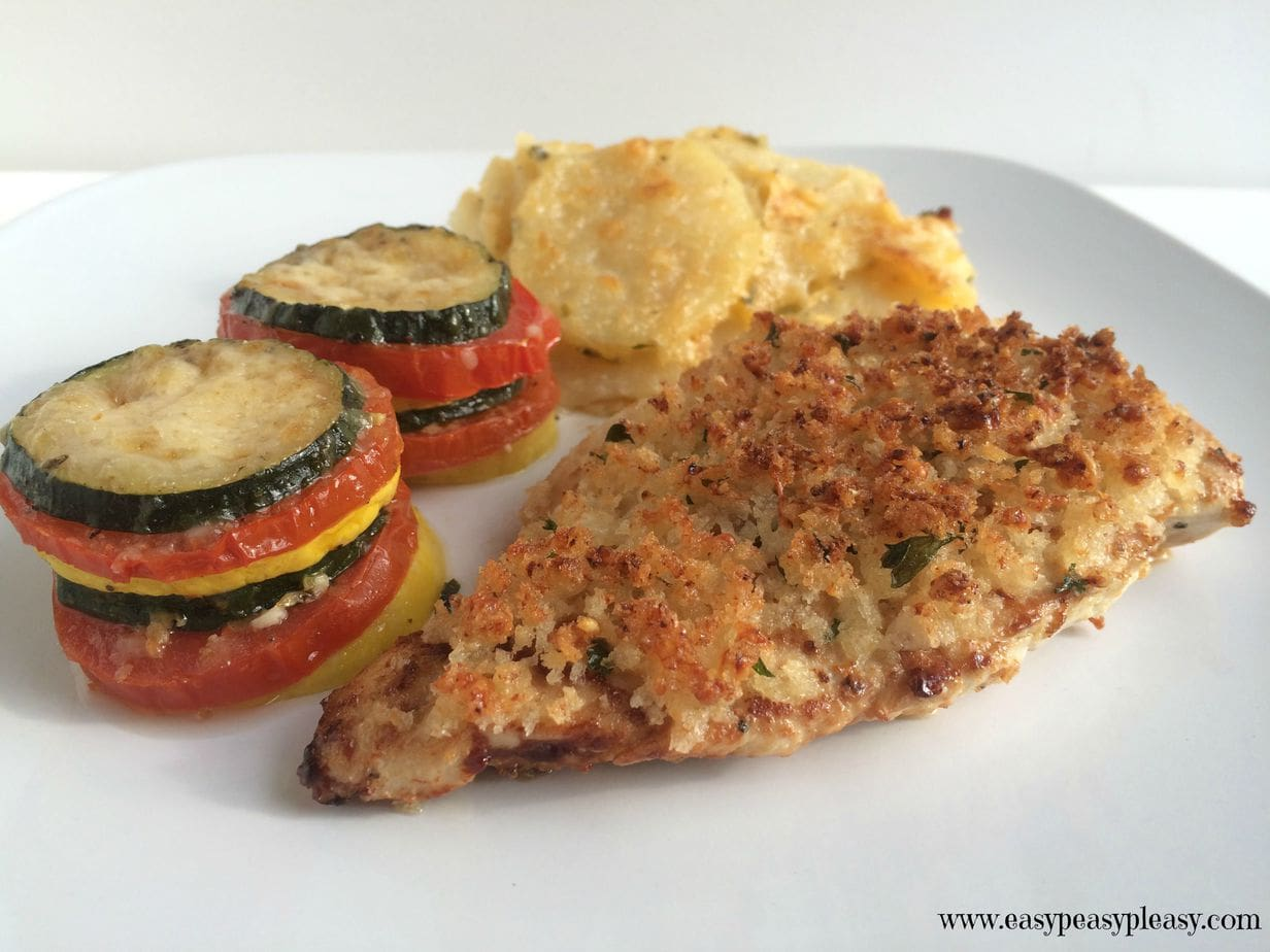 Caesar Parmesan Crusted Chicken