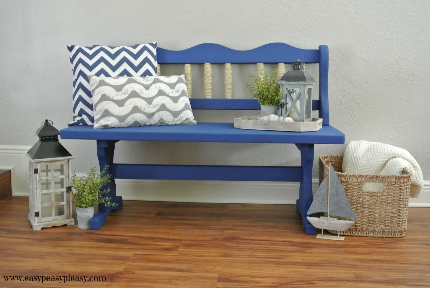 Easy DIY Coastal Inspired Bench Makeover