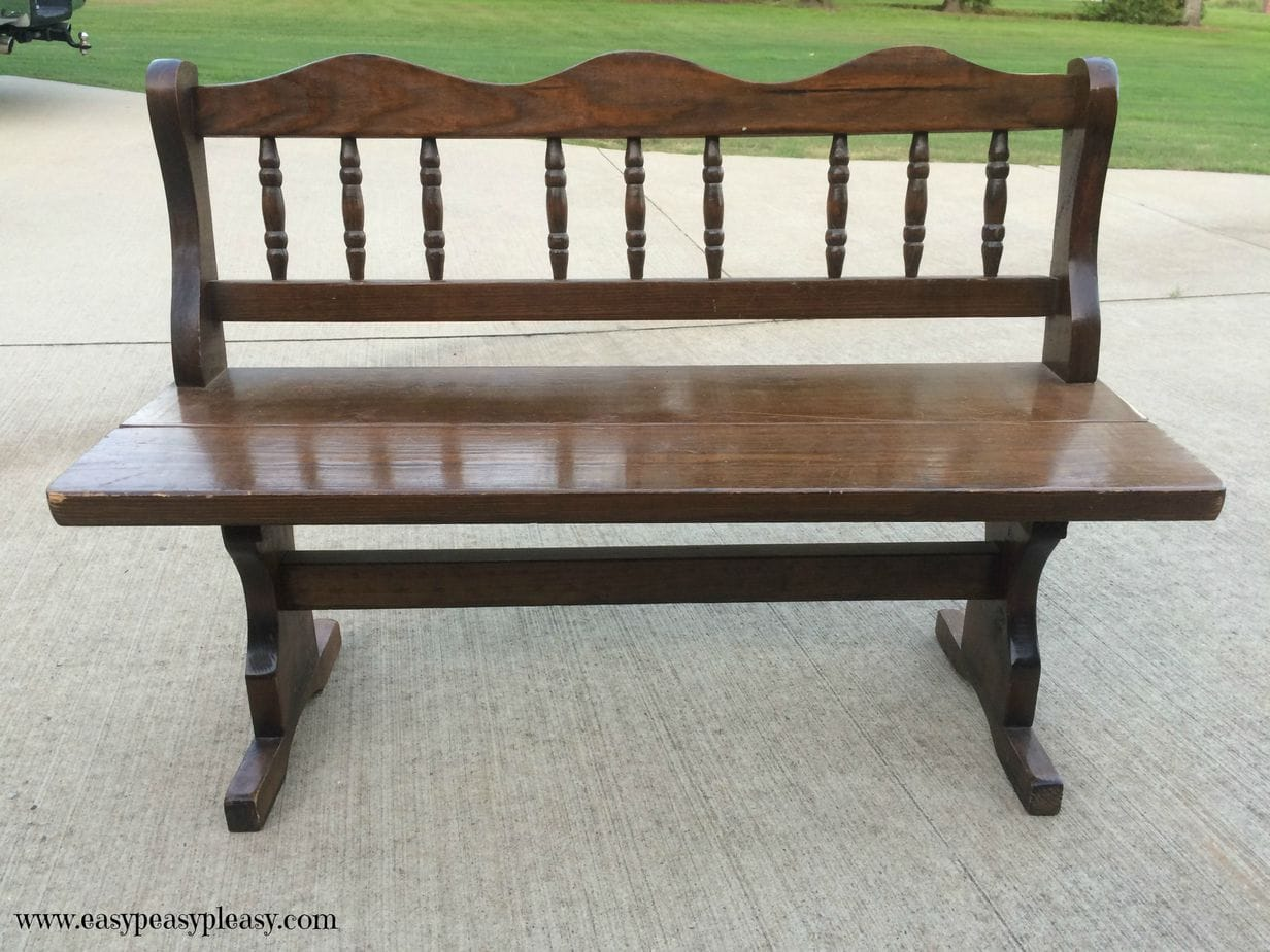 Easy Beach Inspired Bench Makeover