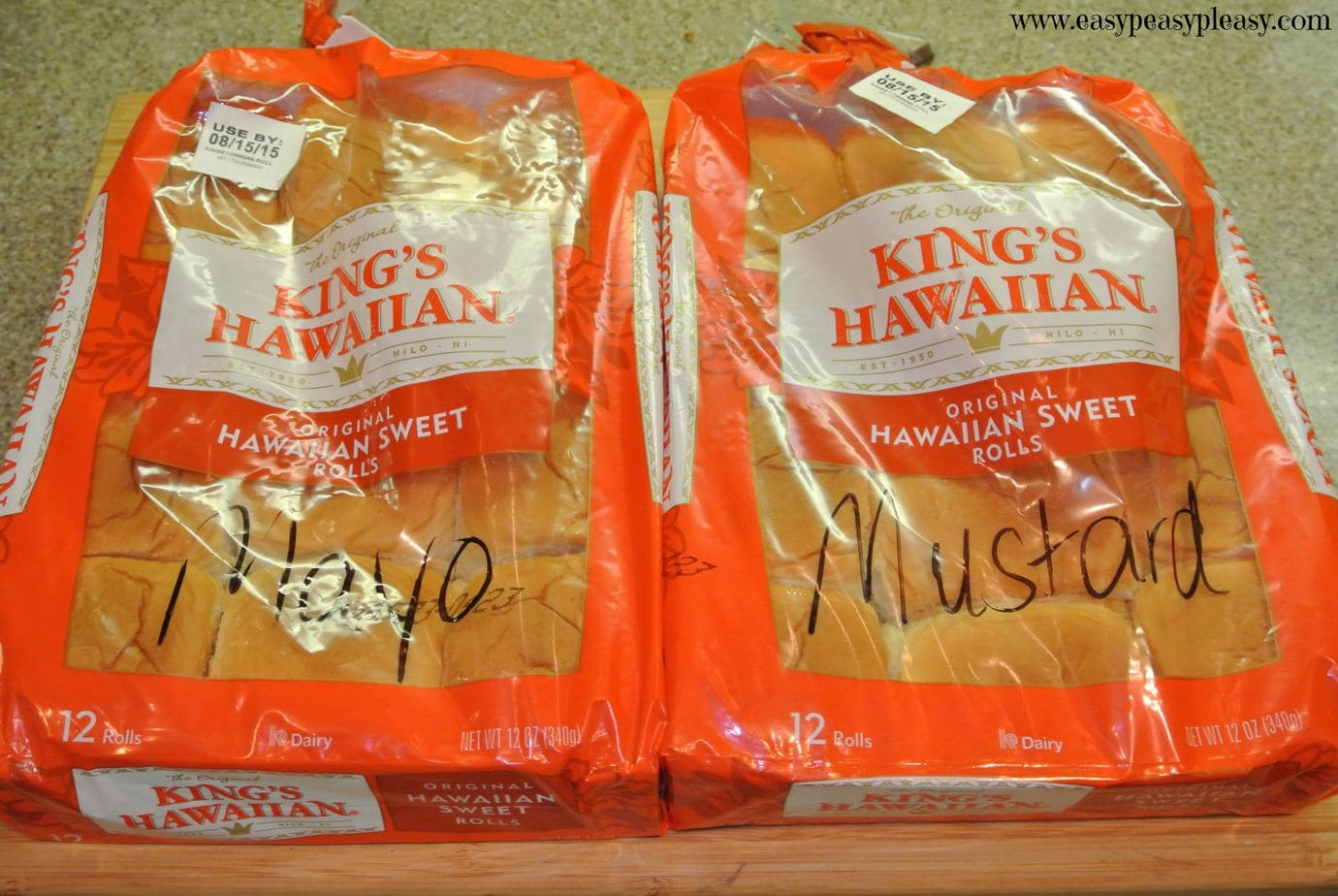 Easy TO GO sandwiches and no need for an extra container! Just throw these Cold Cuts Hawaiian Rolls in the cooler and away you go!