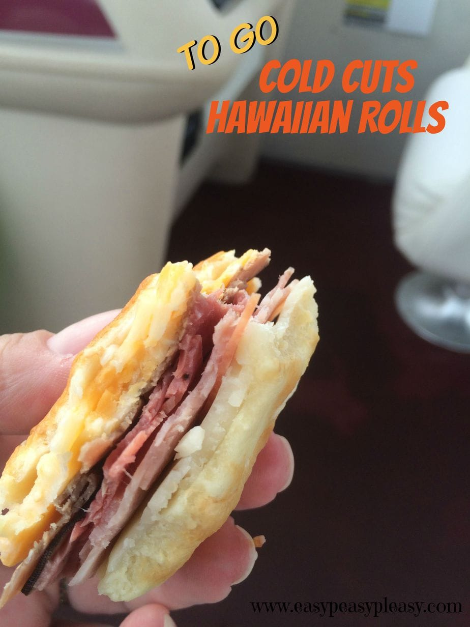 Make these Cold Cut Hawaiian Rolls ahead of time, pack them up, and take them with you to go!
